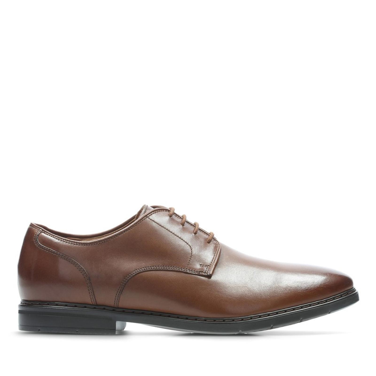 Clarks Mens BANBURY LACE British Tan Leather