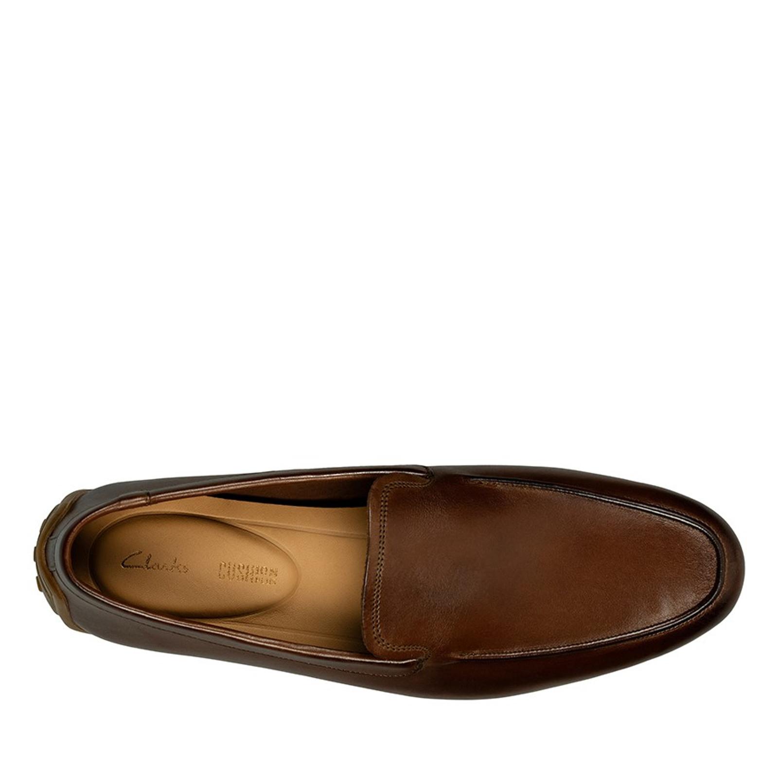 Clarks Mens REAZOR PLAIN British Tan Leather