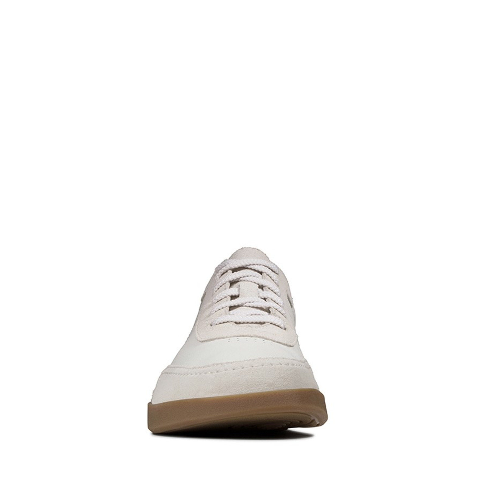 Clarks Mens OAKLAND RUN White Leather