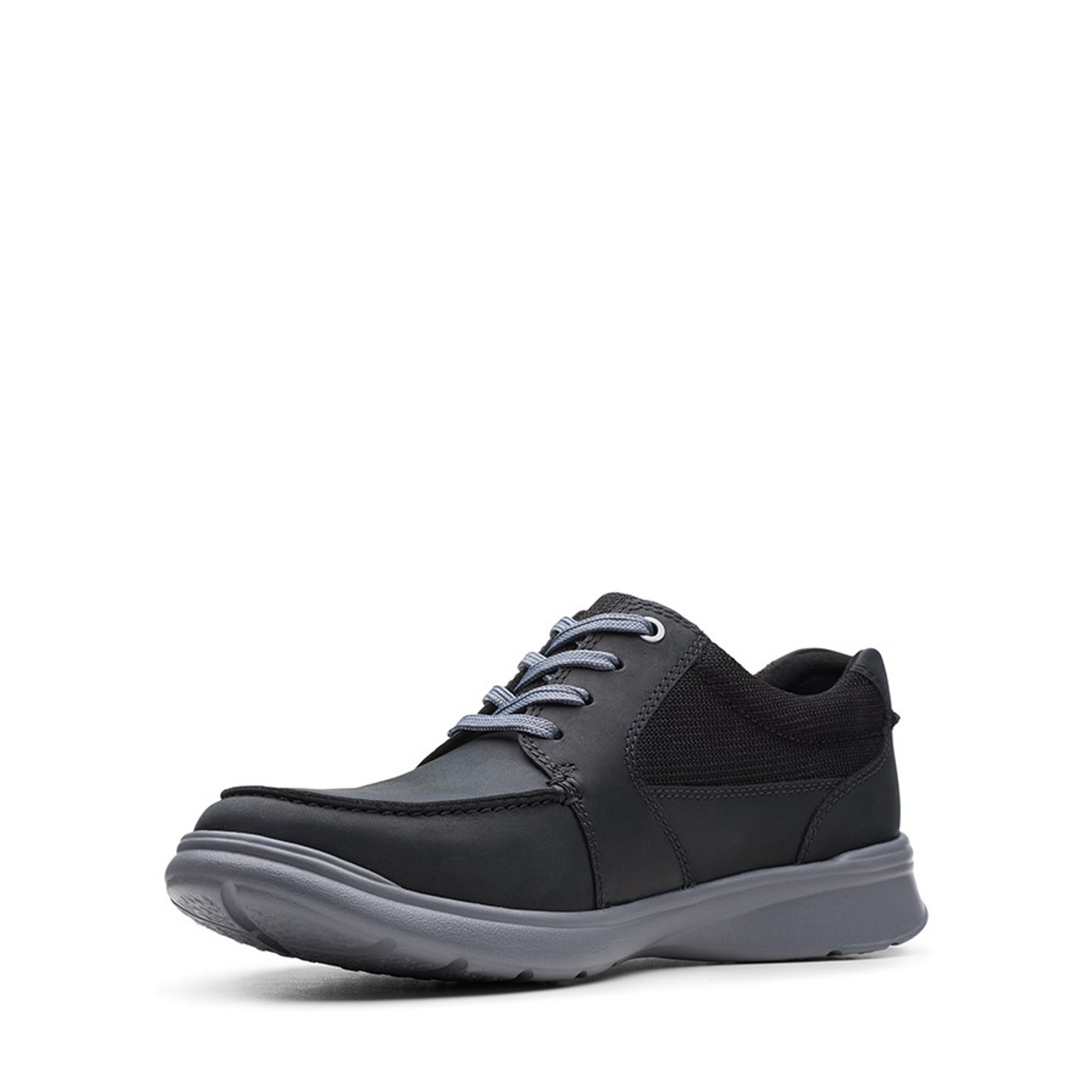 Clarks Mens COTRELL LANE Black Combo Leather