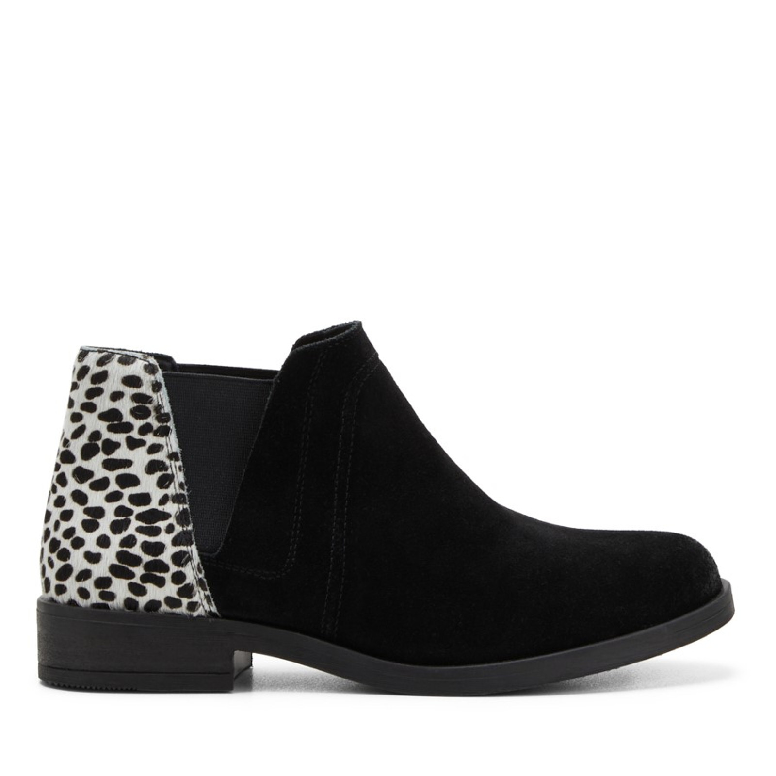 Clarks Womens DEMI2 BEAT Black Dalmation