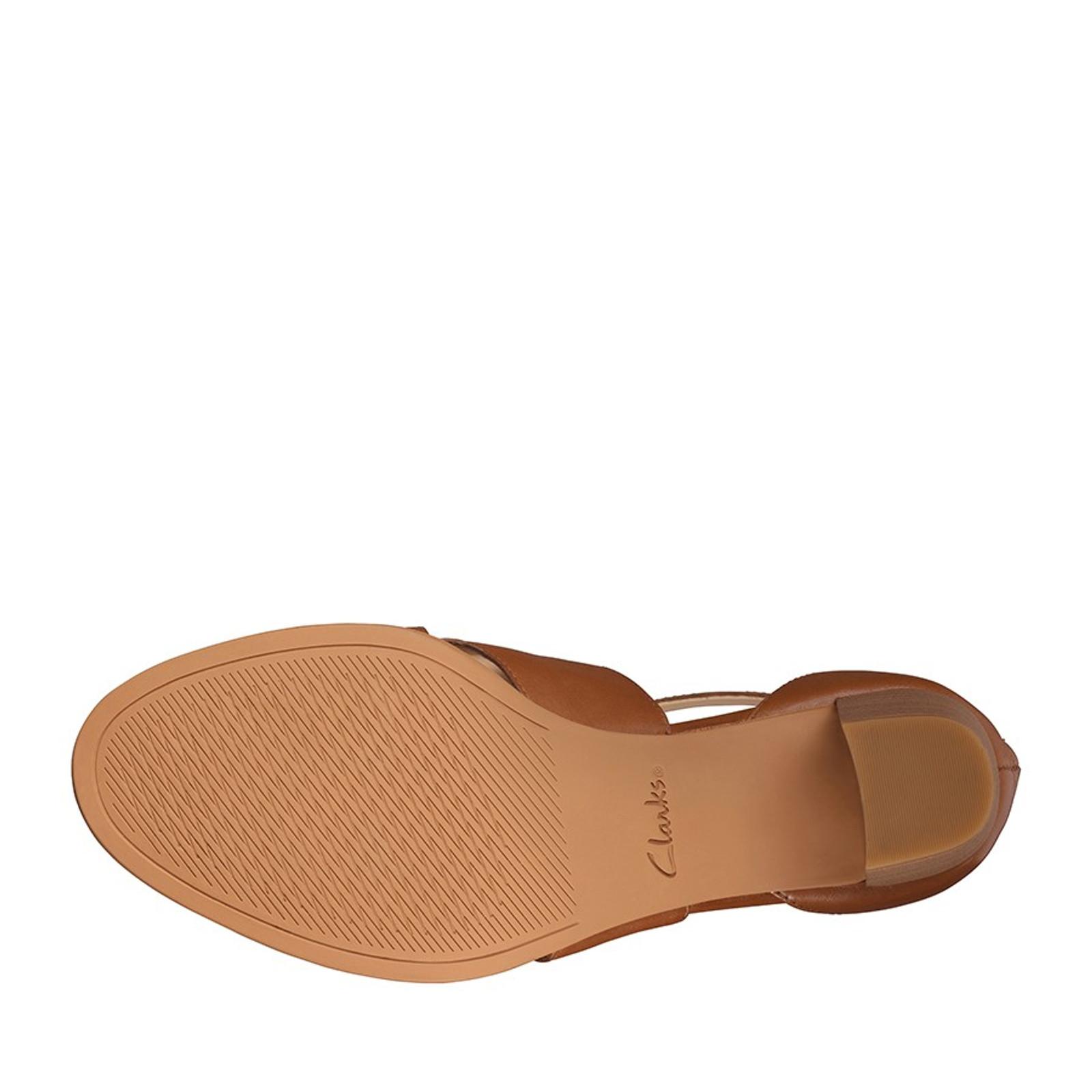Clarks Womens KAYLIN60 GLAD Tan Leather