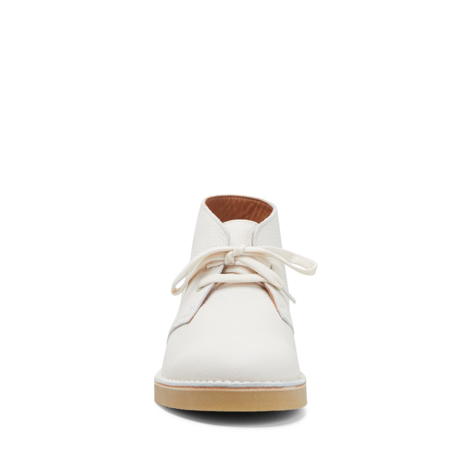 Clarks Mens DESERTBOOT COMFORT MENS White Leather