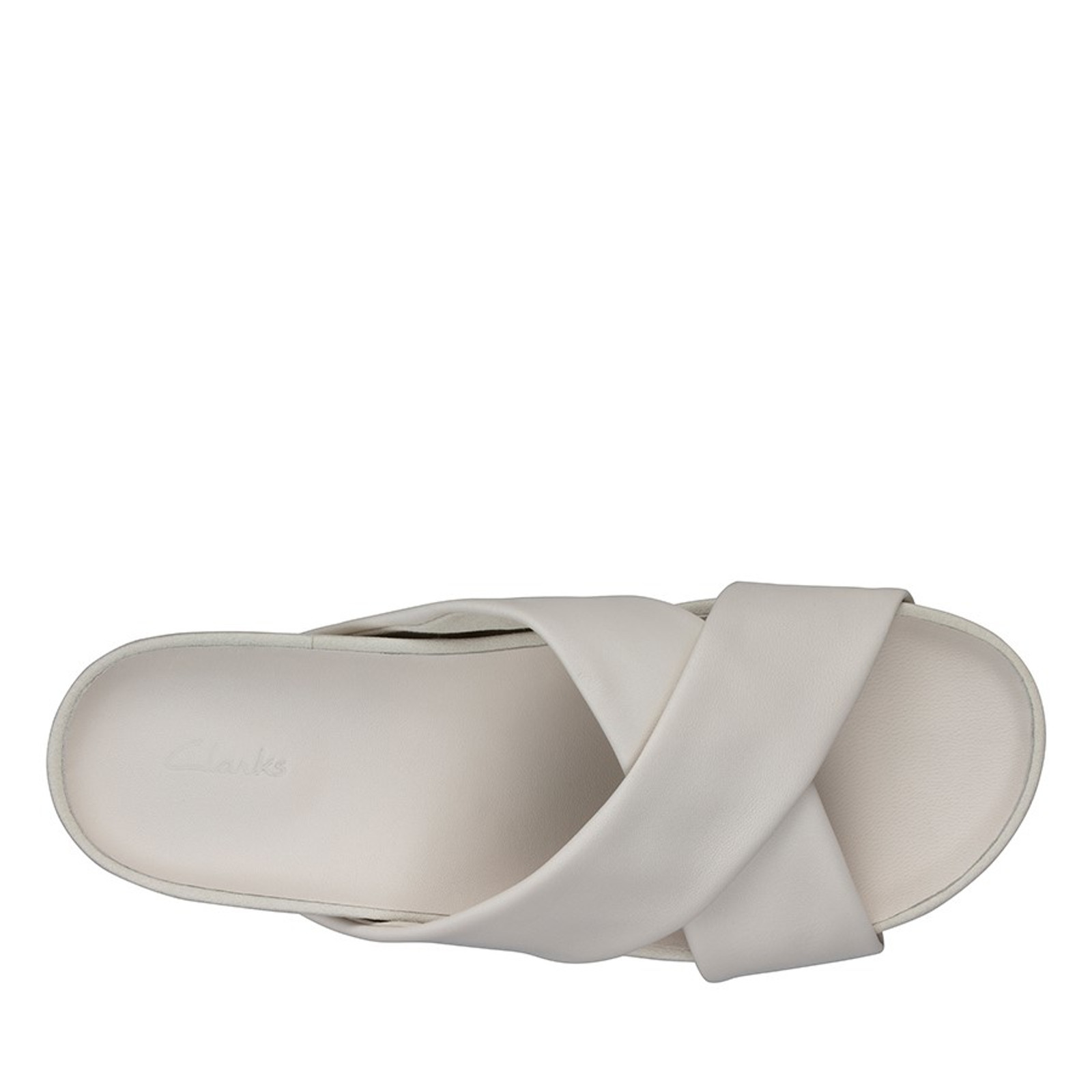 Clarks Womens PURE CROSS White Leather