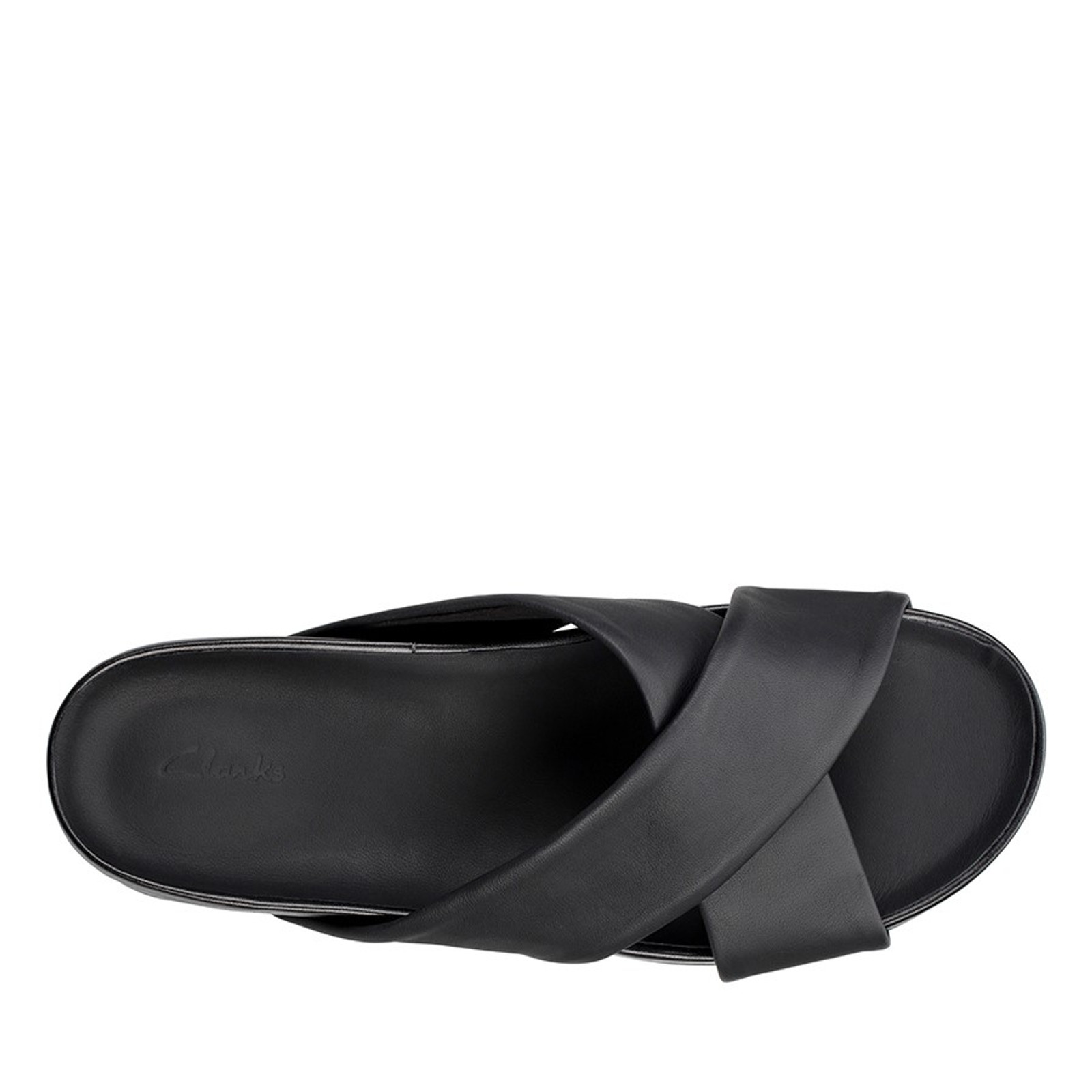 Clarks Womens PURE CROSS Black Leather