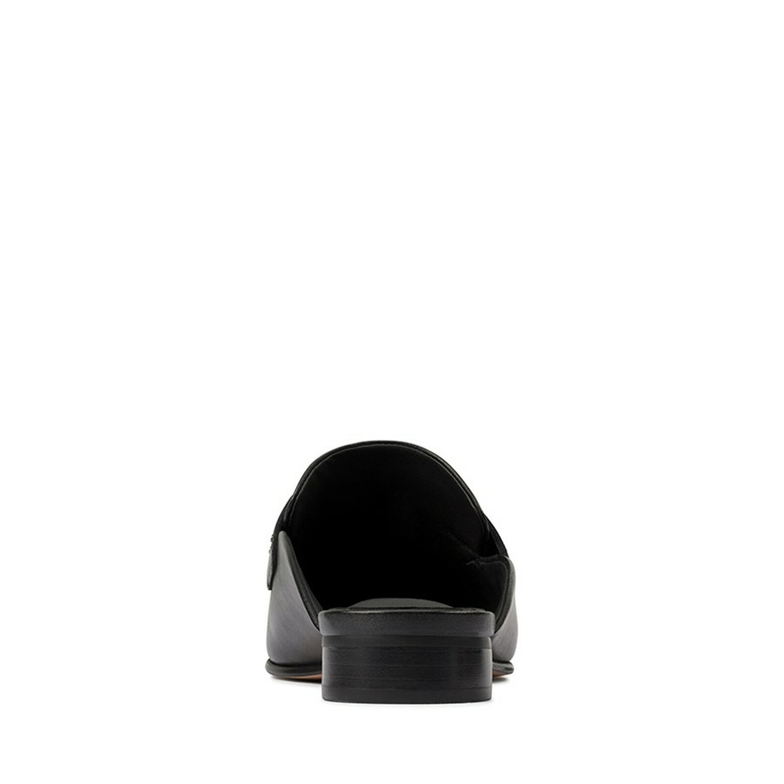 Clarks Womens PURE MULE Black Leather