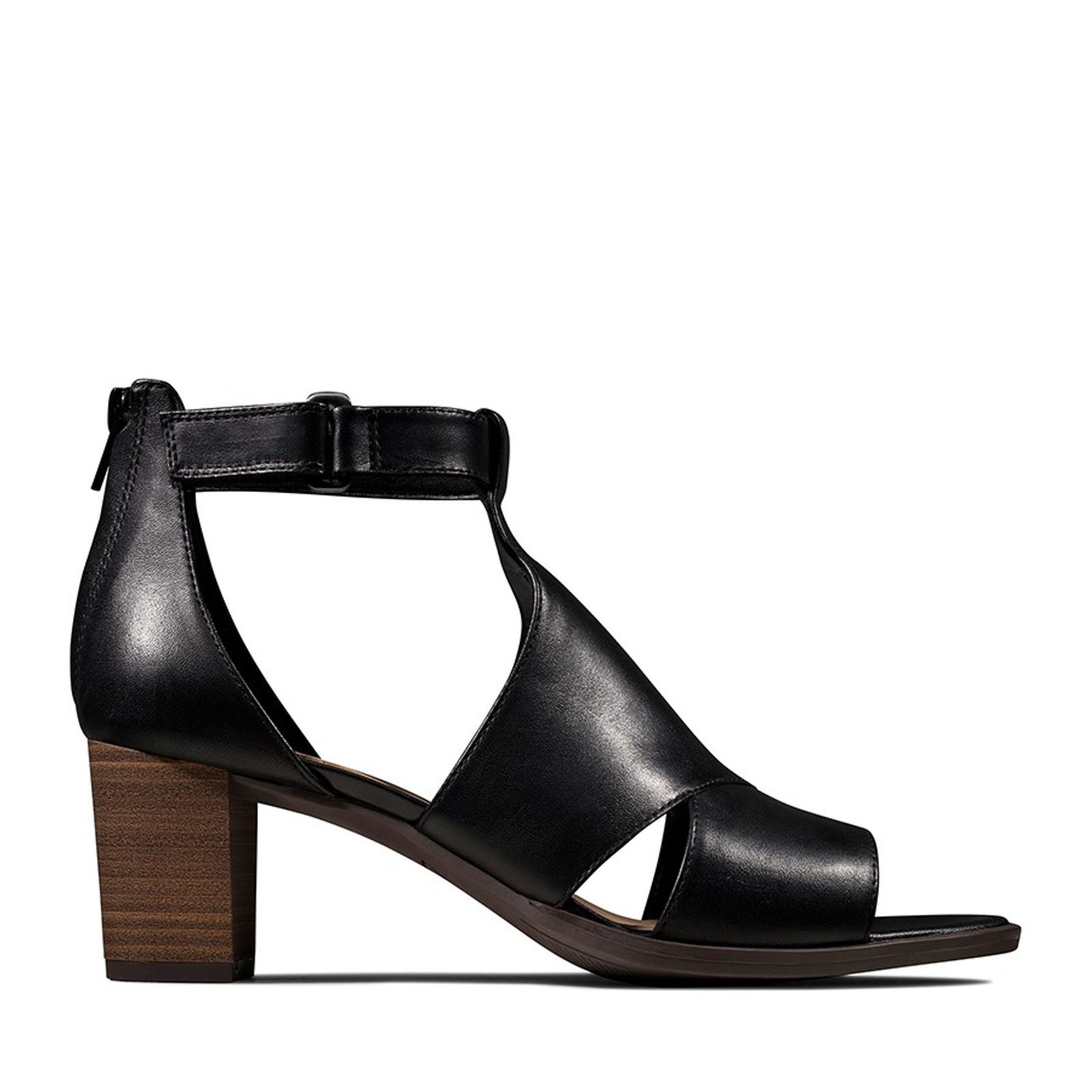 Clarks Womens KAYLIN60 GLAD Black Leather