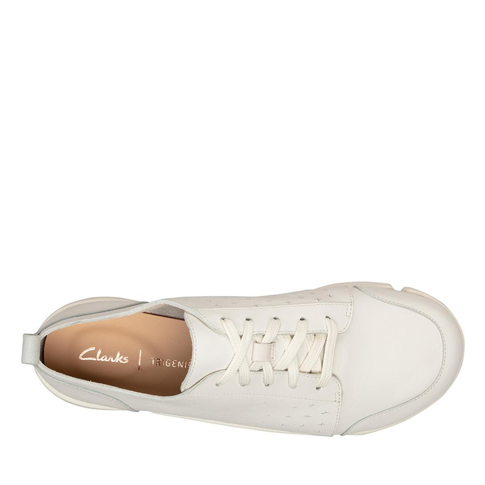Clarks Womens TRIAMELIA EDGE White Leather