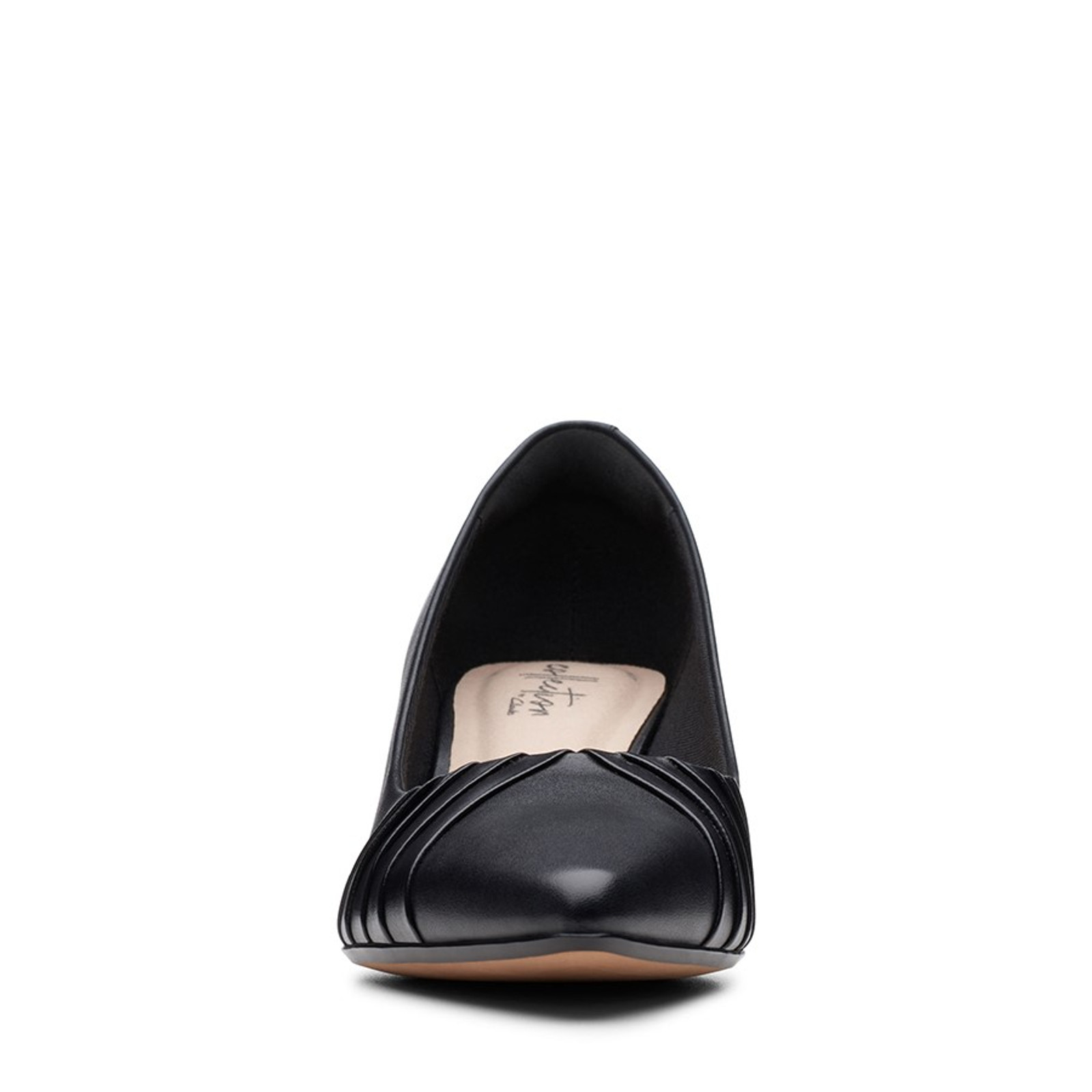 Clarks Womens LINVALE CROWN Black Leather