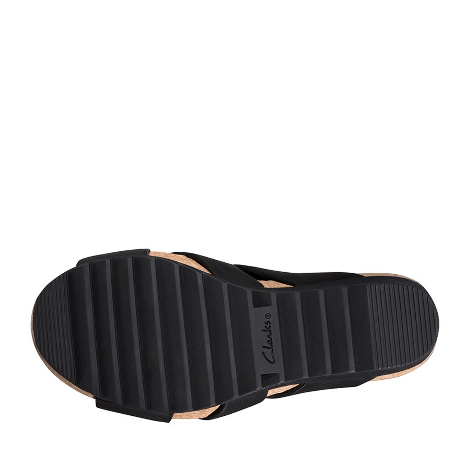 Clarks Womens FLEX SUN Black Leather