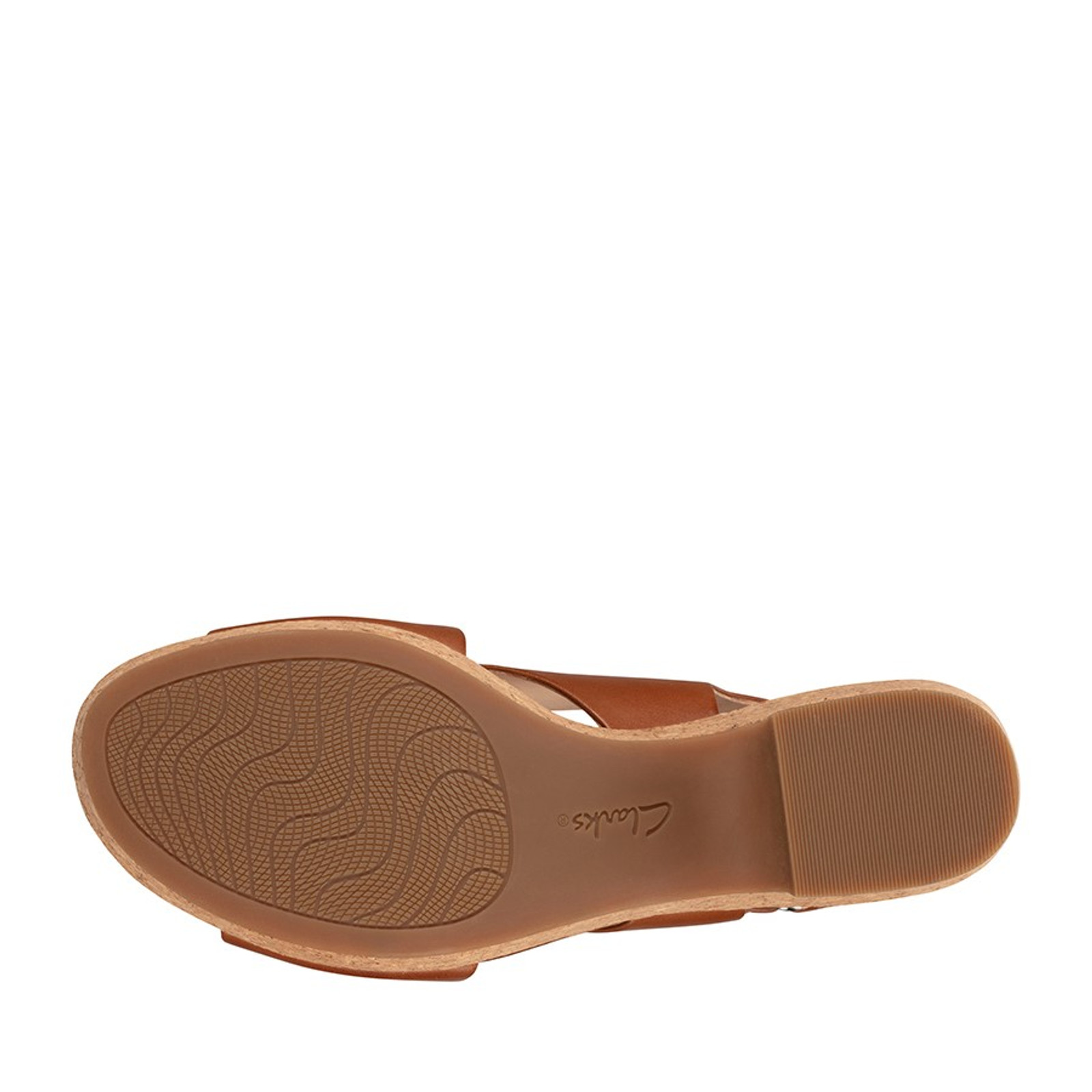 Clarks Womens MARITSA LARA Tan Leather