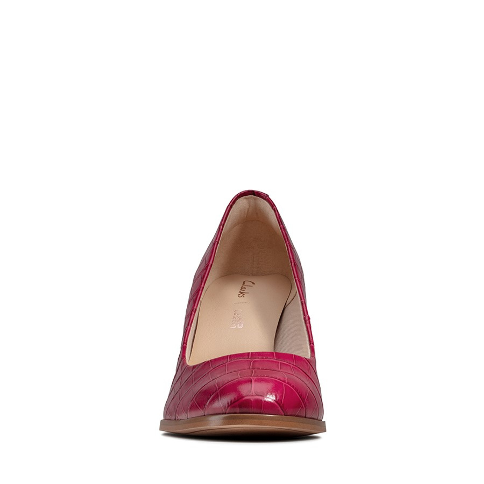 Clarks Womens KAYLIN CARA Pink Leather