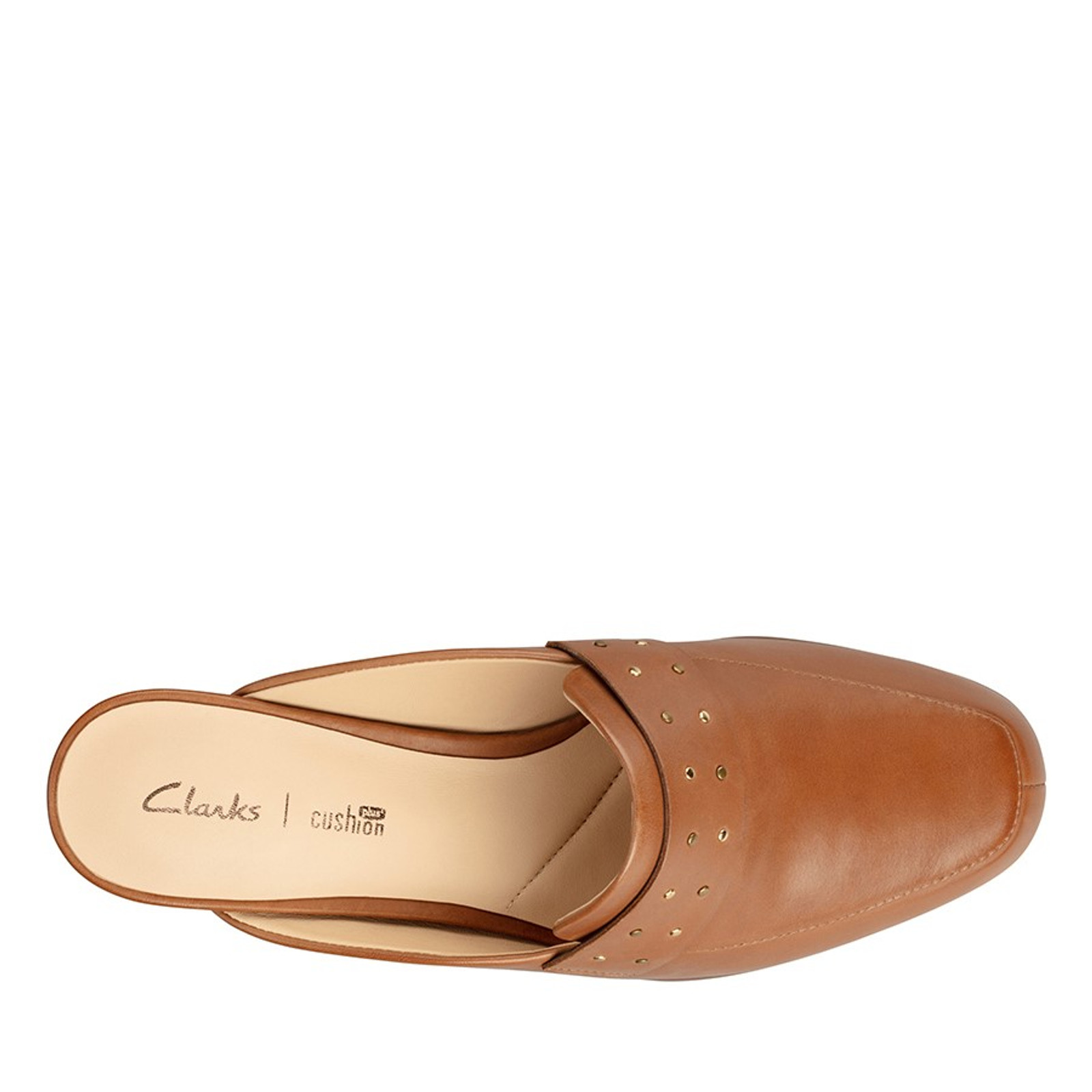Clarks Womens PURE MULE Tan Leather