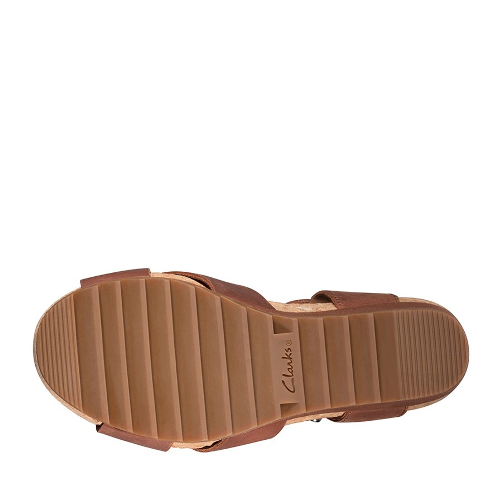 Clarks Womens FLEX SUN Tan Leather