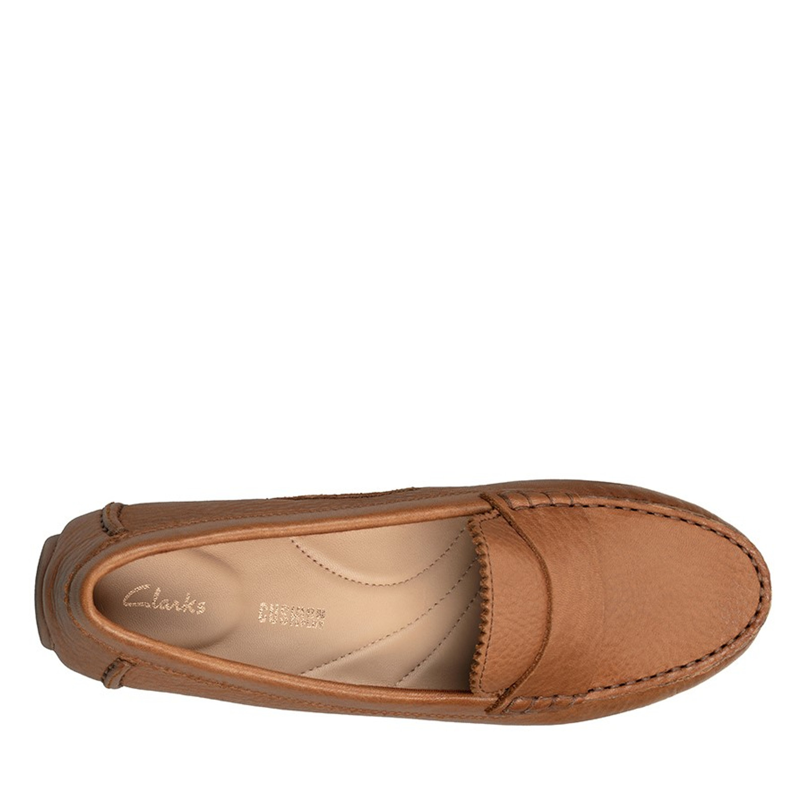 Clarks Womens C MOCC Tan Leather