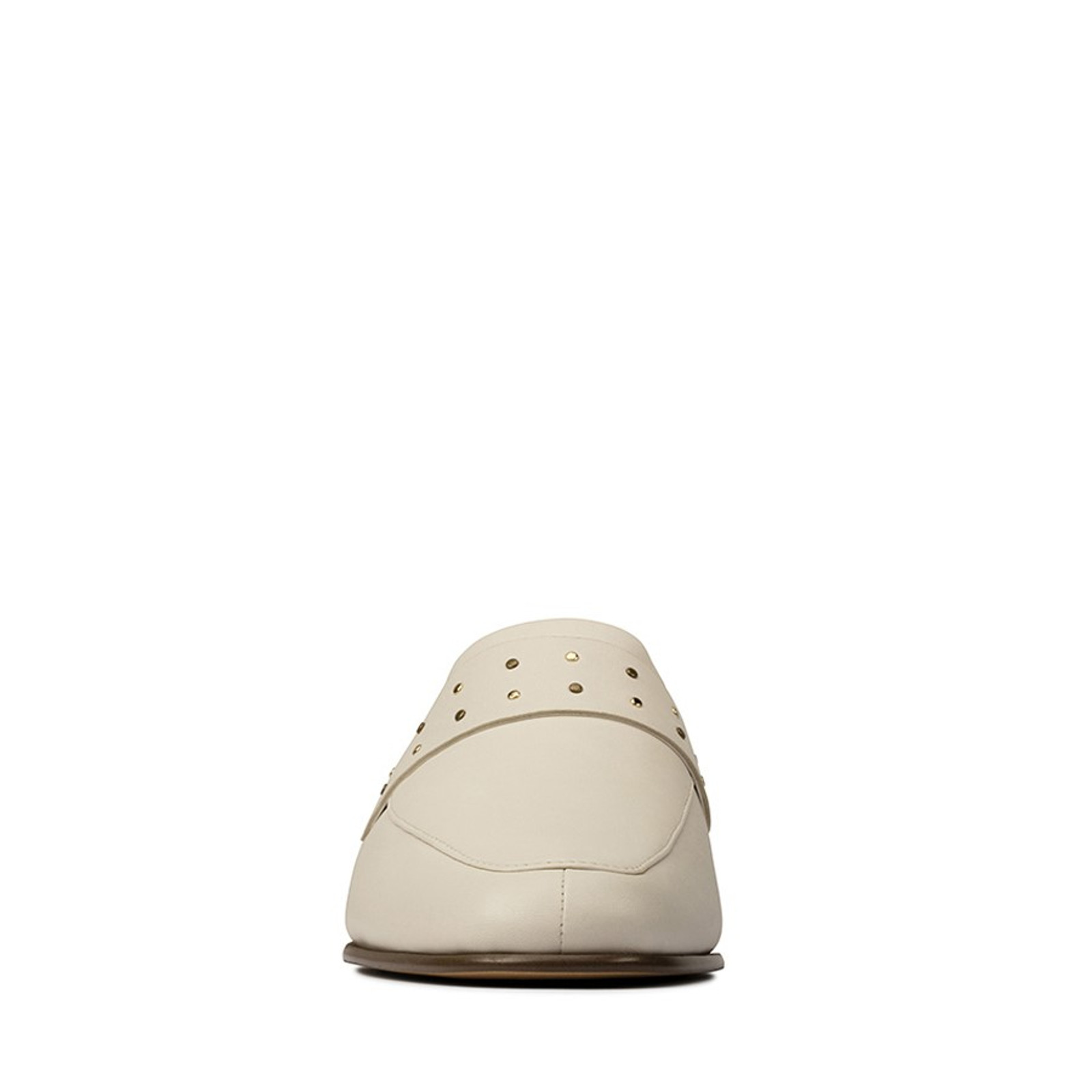Clarks Womens PURE MULE White Leather