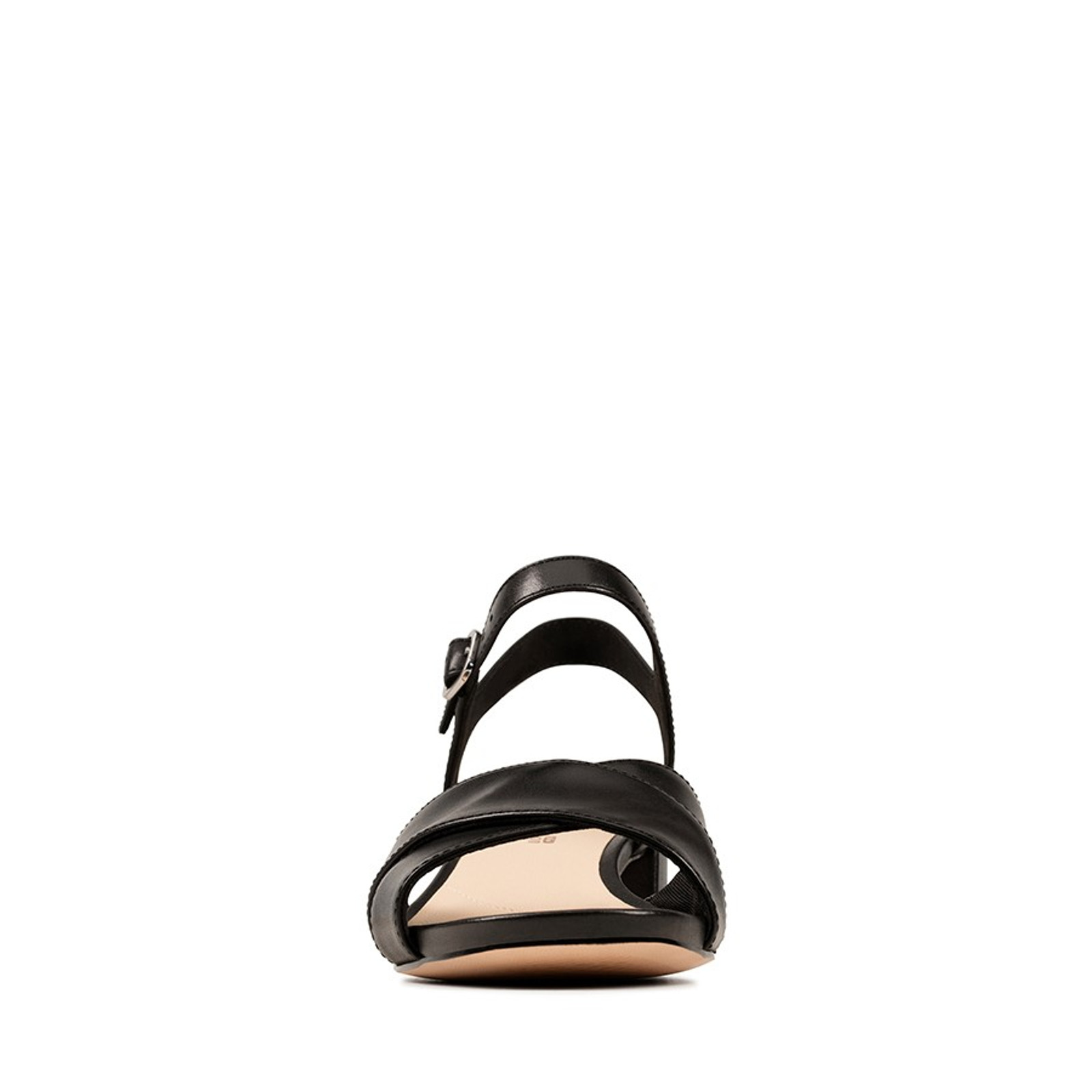 Clarks Womens SHEER35 STRAP Black Leather