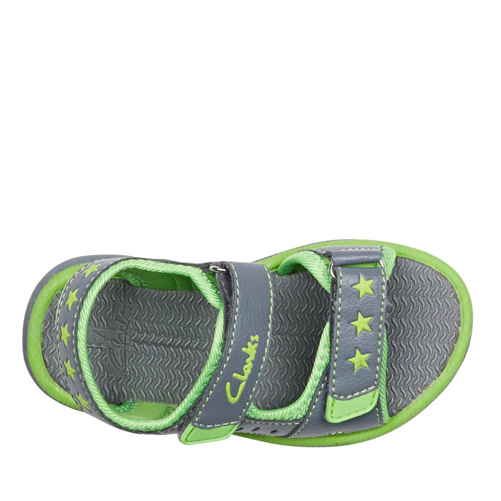 Clarks UnisexChildren FLIP Grey/Lime