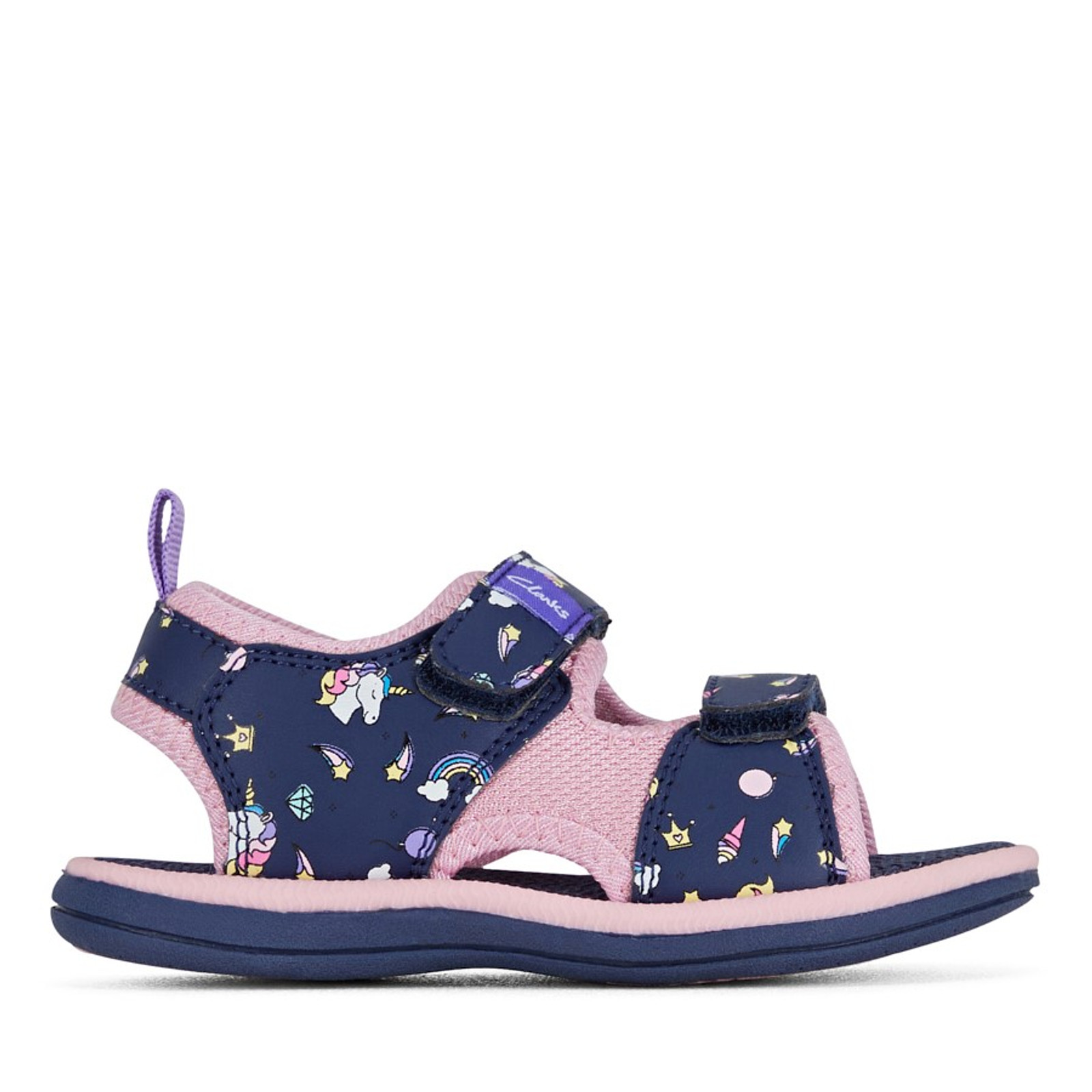 Clarks Girls FRIDA Navy/Pink