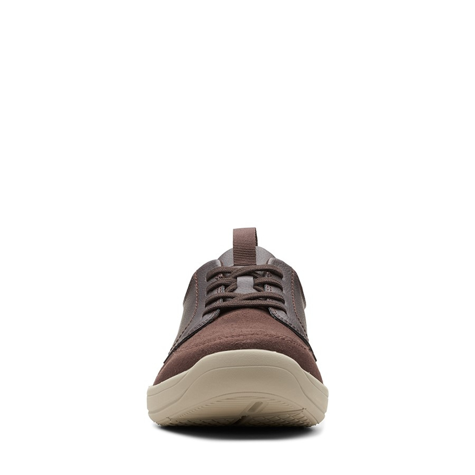 Clarks Mens STEPSTROLL LACE Brown Leather