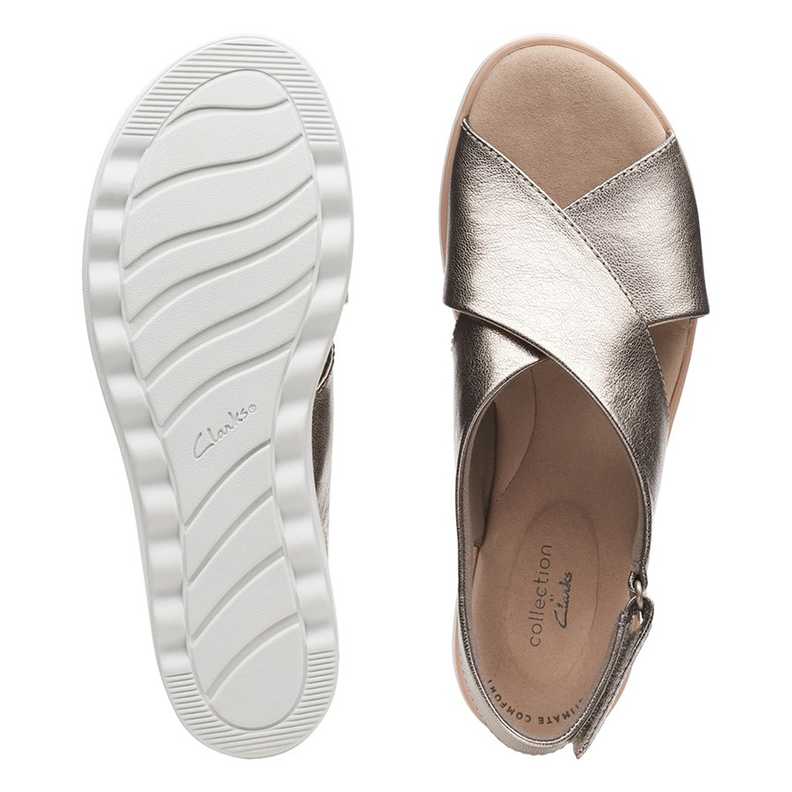 Clarks Womens JILLIAN JEWEL Metallic Leather