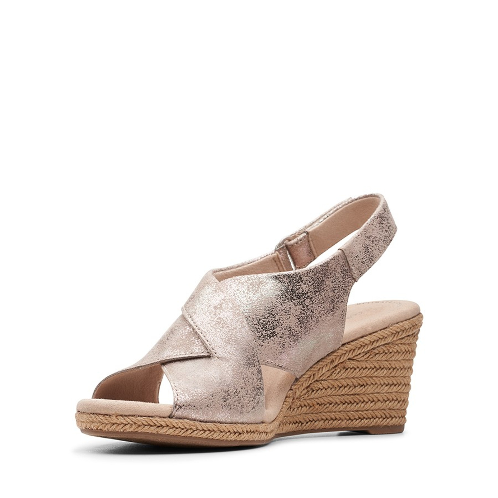 Clarks Womens LAFLEY ALAINE Pewter Leather