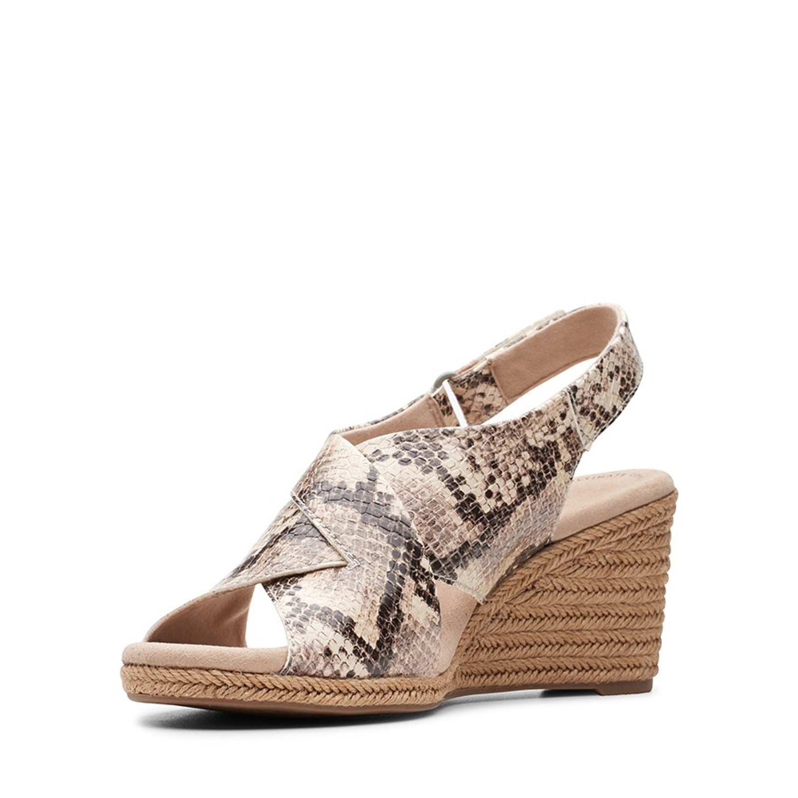 Clarks Womens LAFLEY ALAINE Taupe Snake