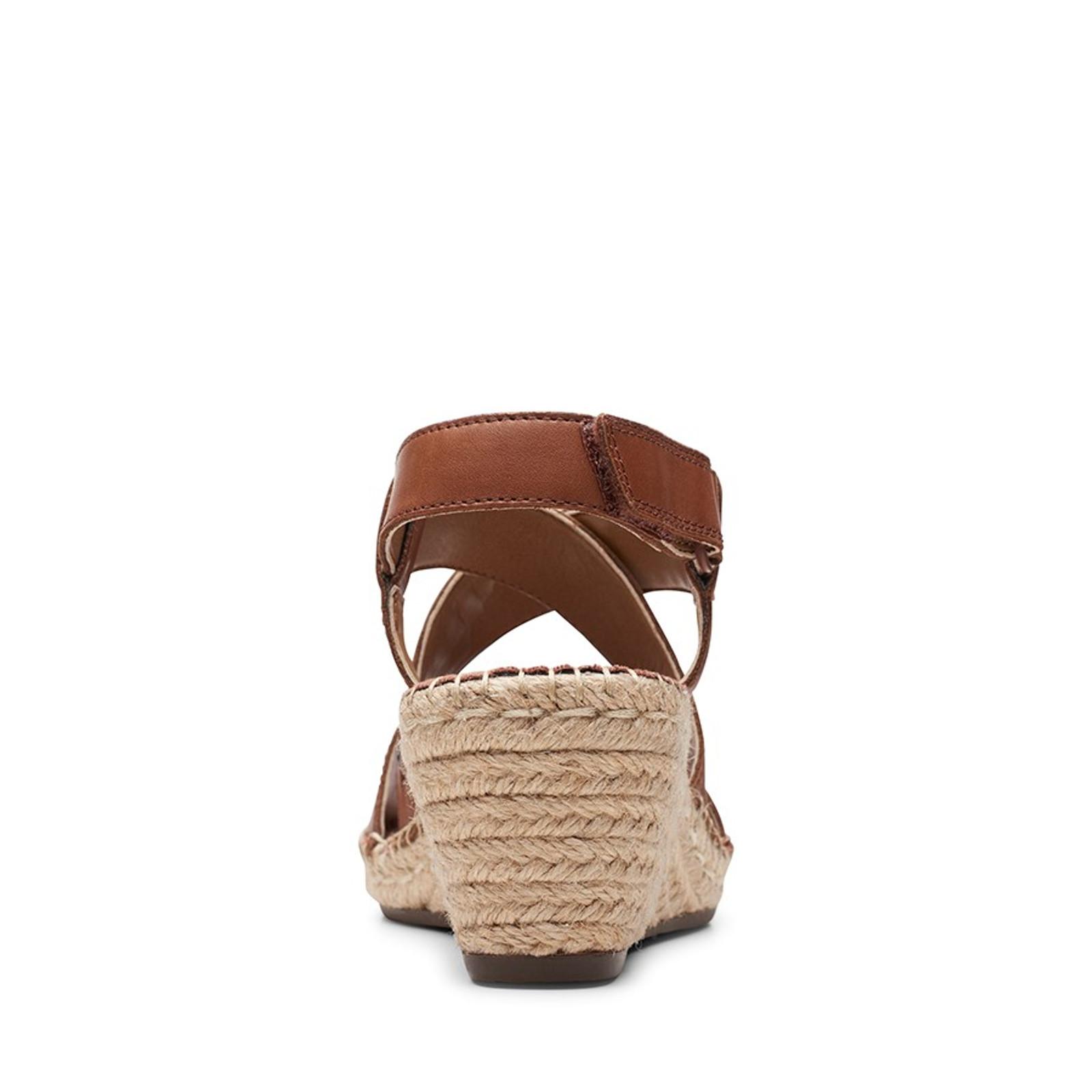 Clarks Womens PETRINA BAY Mahogany Leather