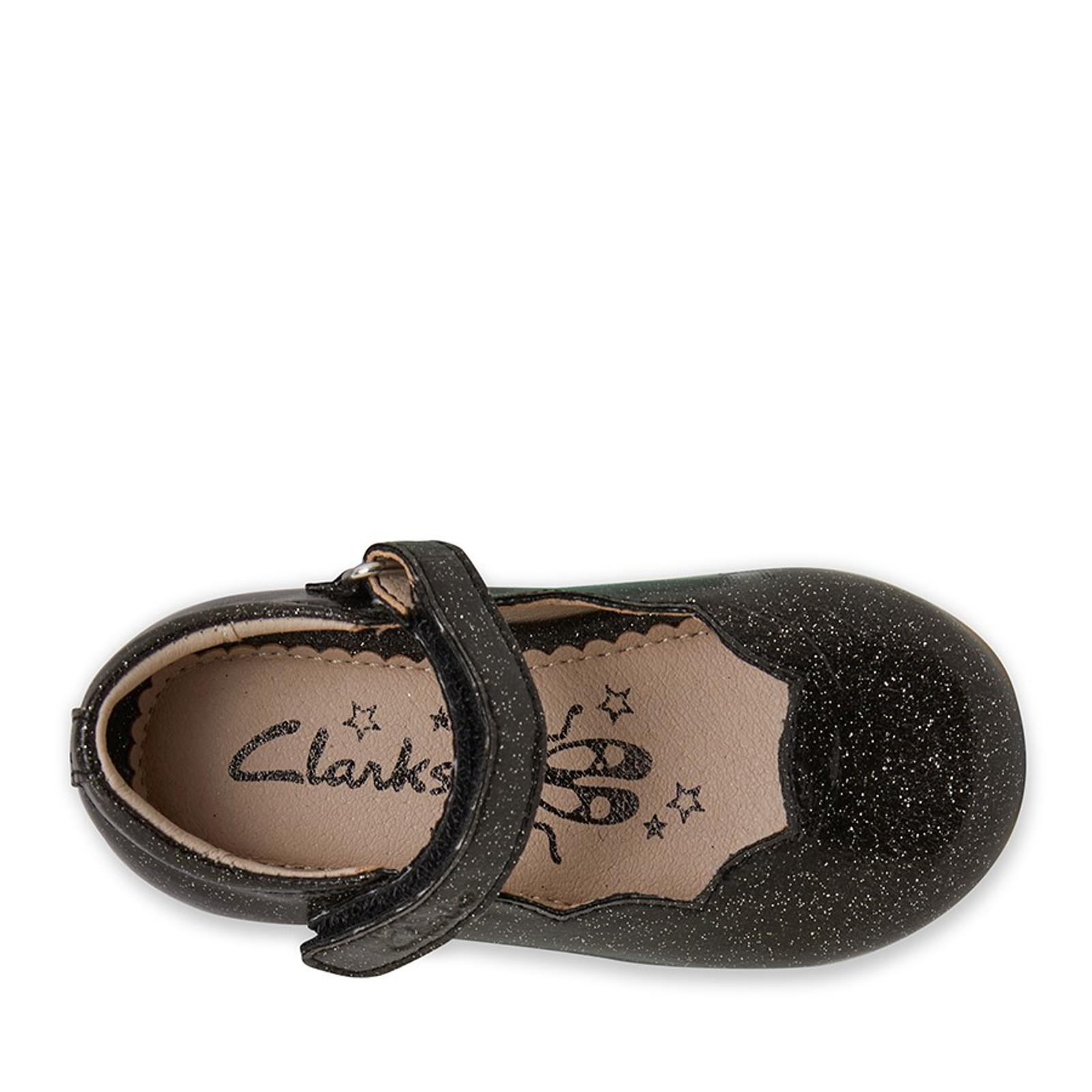 Clarks Girls AUDREY II JNR Black Glitter