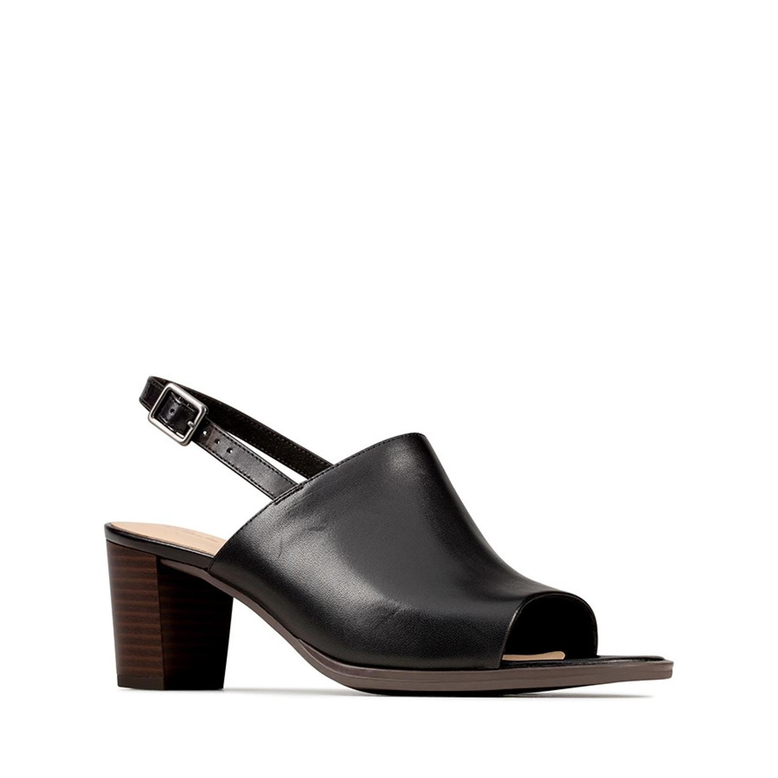 Clarks Womens KAYLIN60 SLING Black Leather