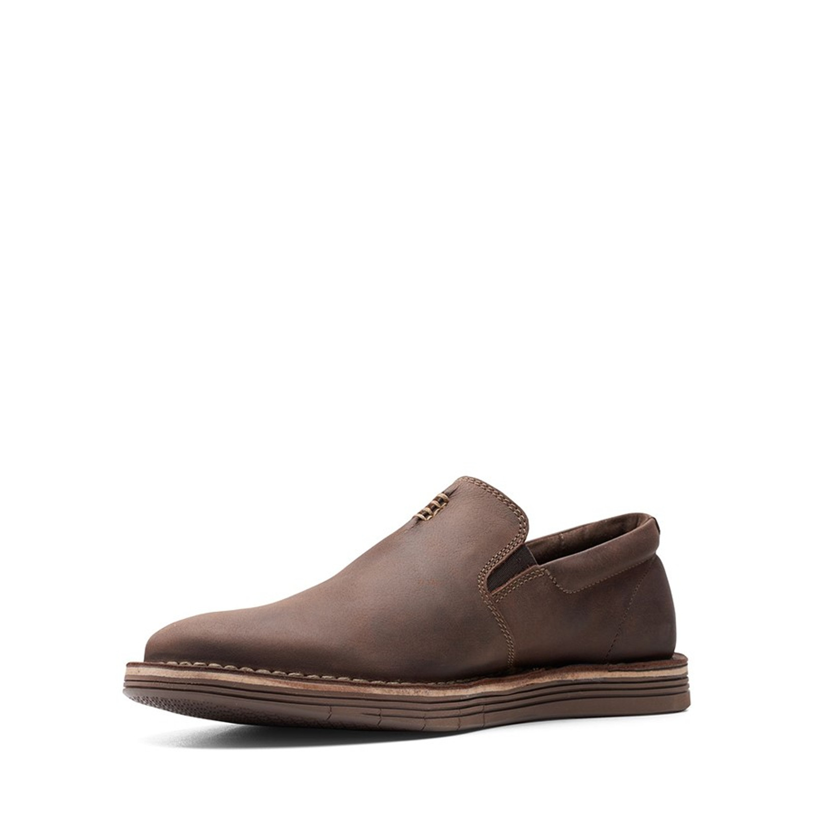 Clarks Mens FORGE FREE Dark Brown Leather