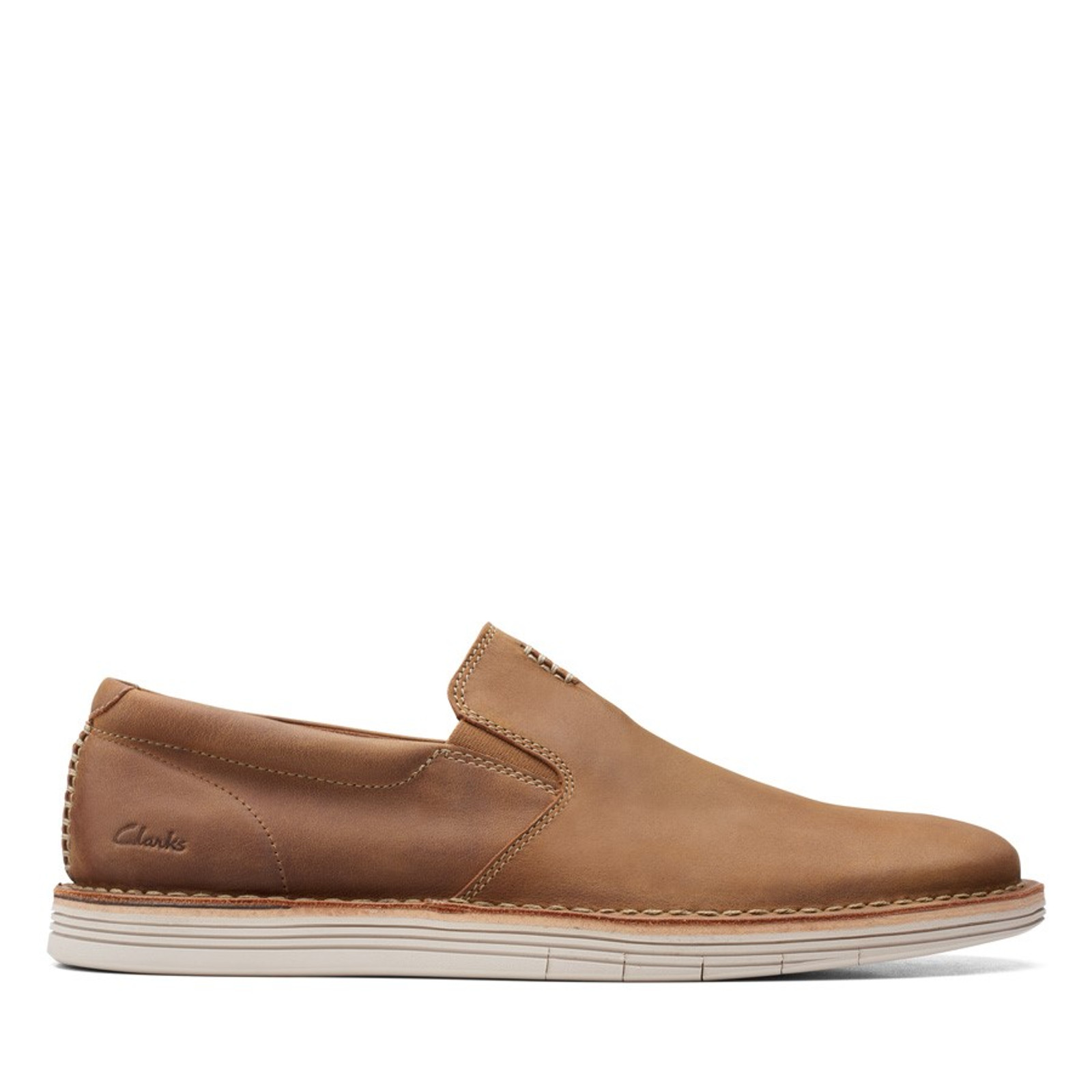 Clarks Mens FORGE FREE Tan Leather