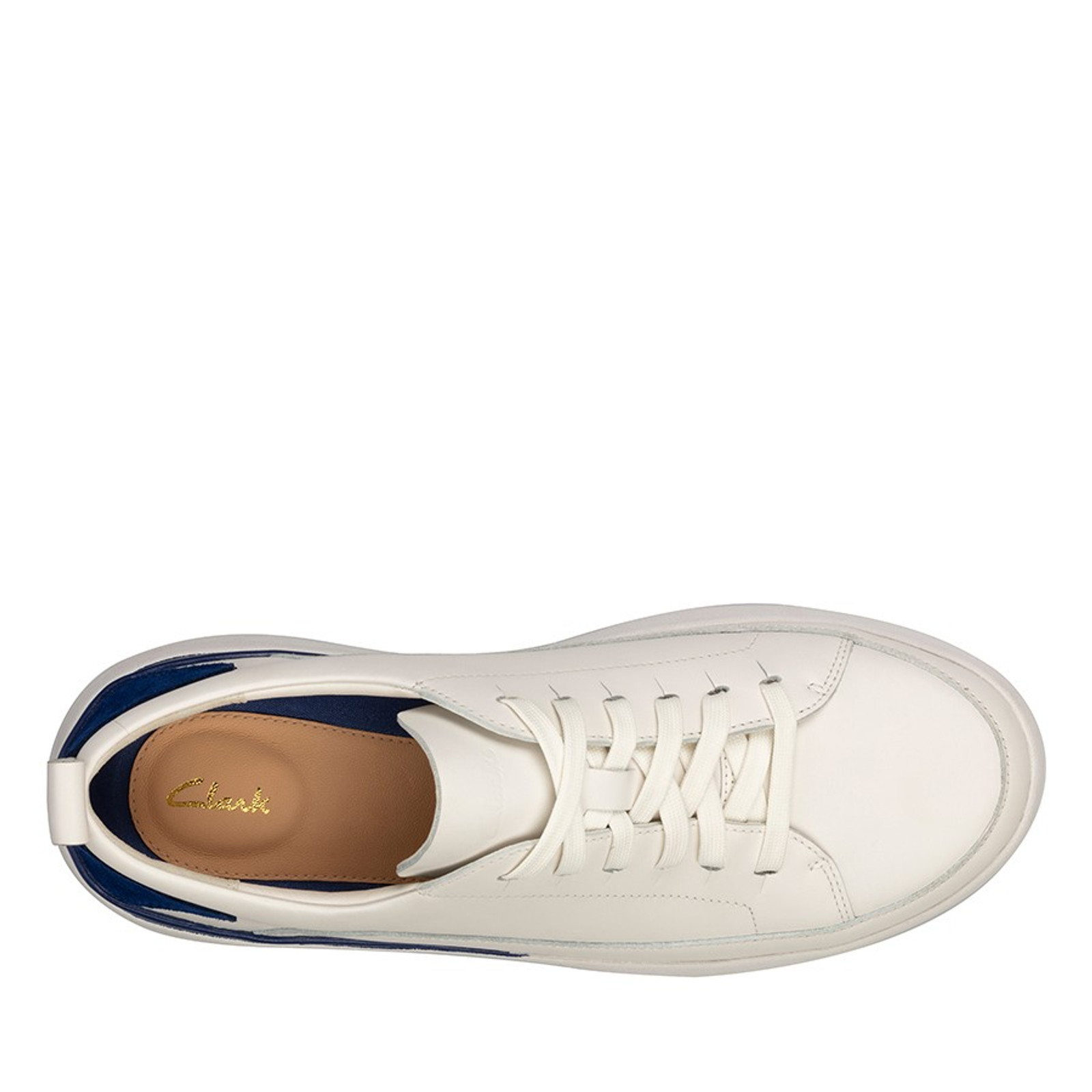 Clarks Womens TRI FLASH LACE White/Blue