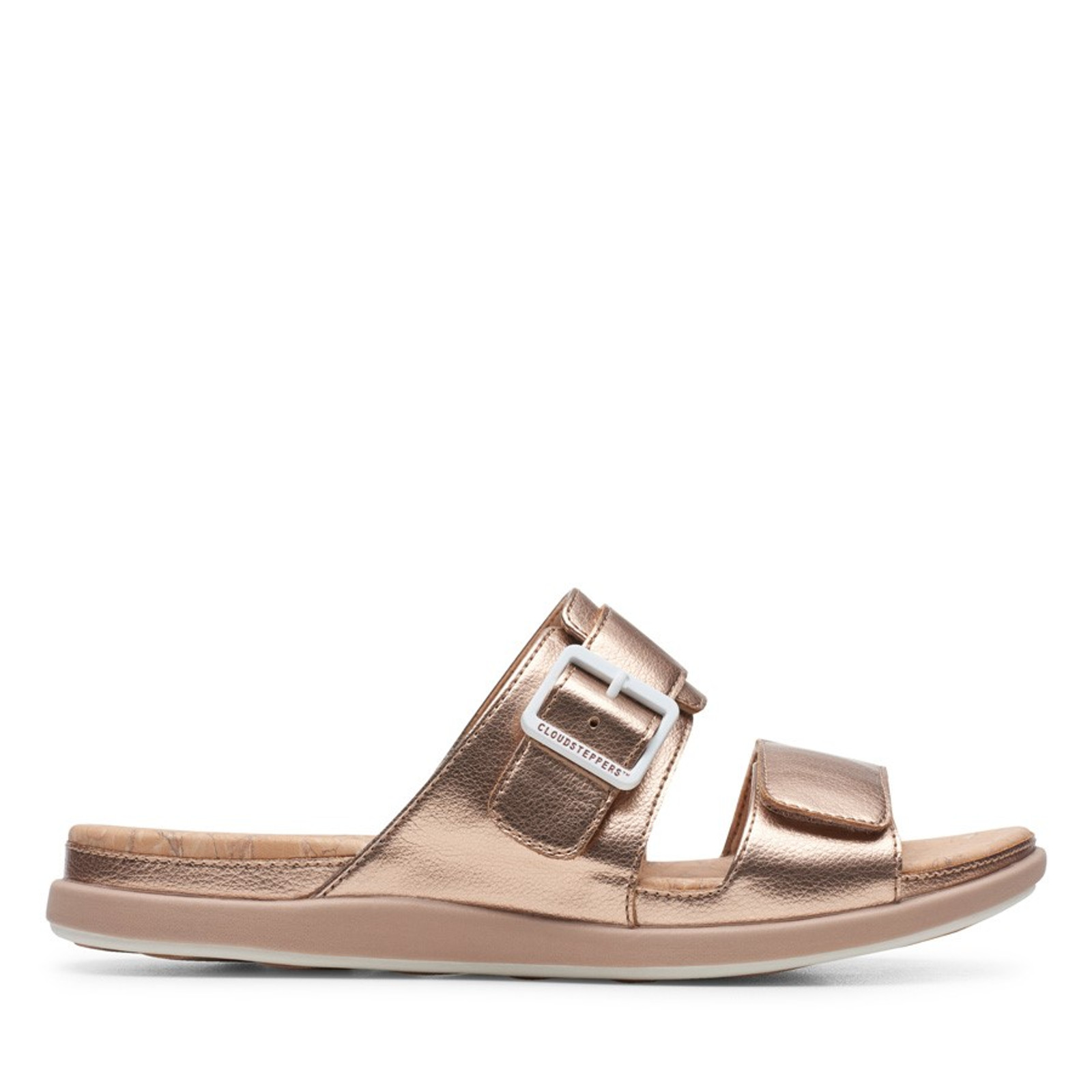 Clarks Womens STEP JUNE SUN Rose Gold Synthetic