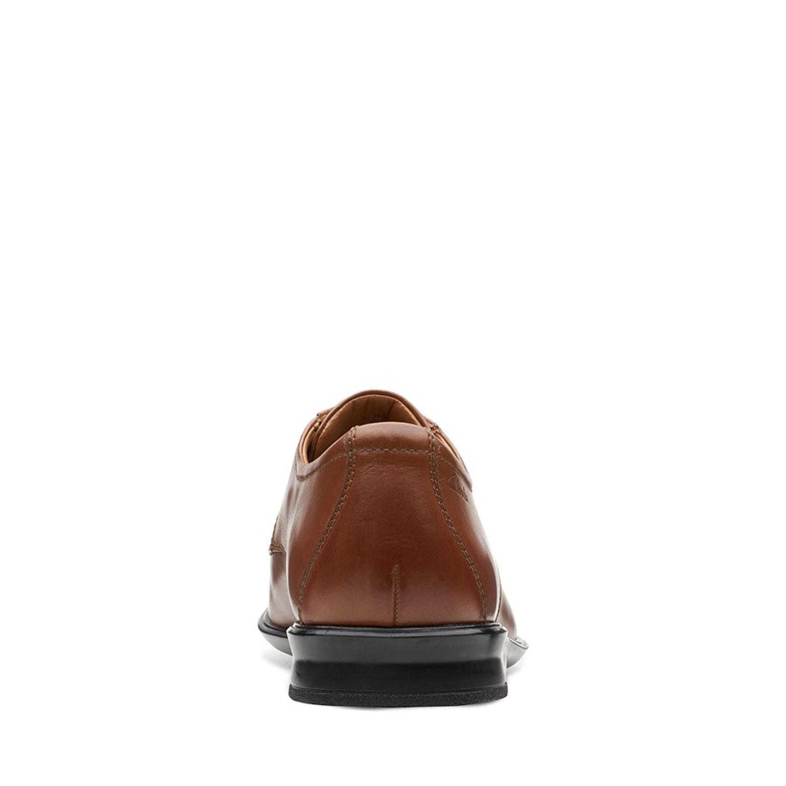 Clarks Mens BENSLEY LACE Dark Tan Leather
