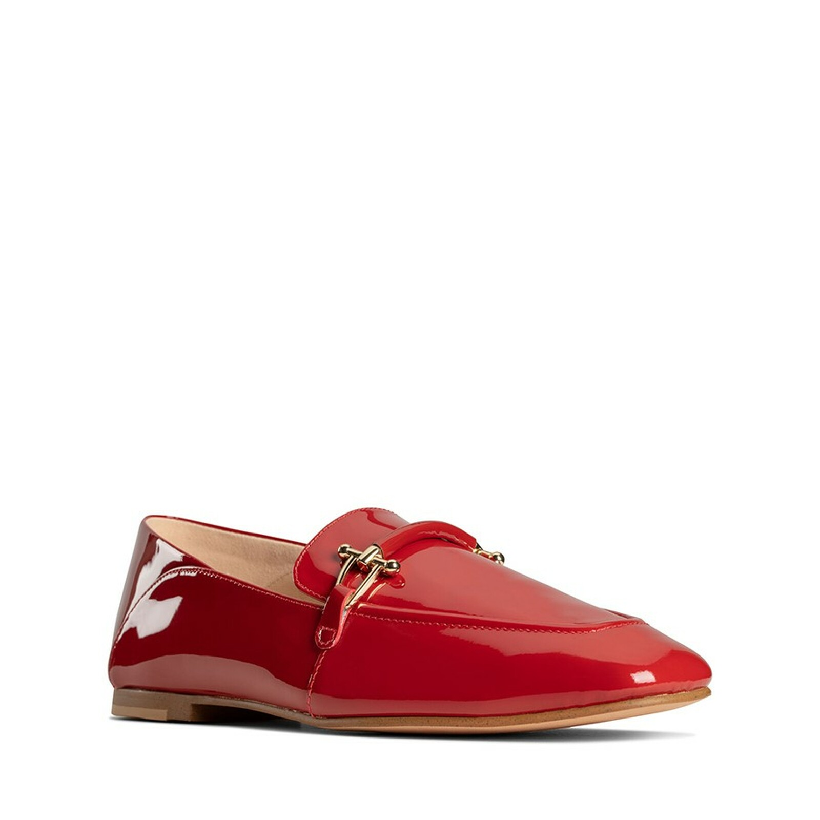 Clarks Womens PURE2 LOAFER Red Patent