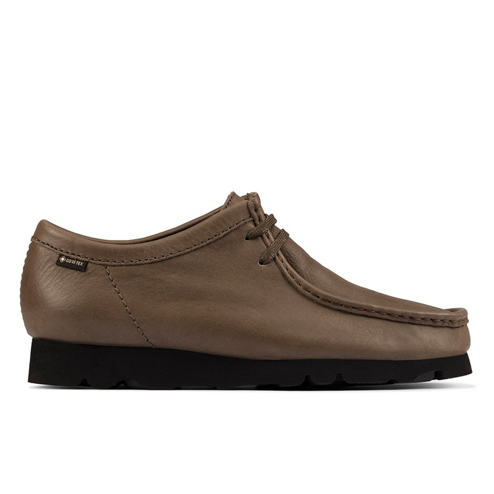 Clarks Mens WALLABEE GTX (M) Olive Leather