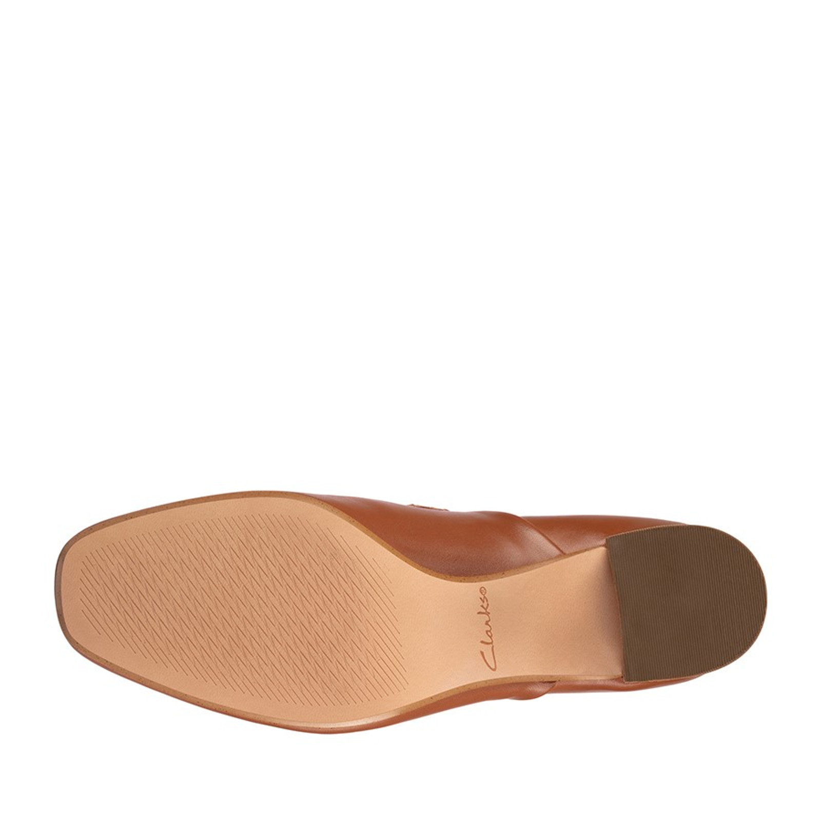 Clarks Womens SHEER LILY 2 Tan Leather