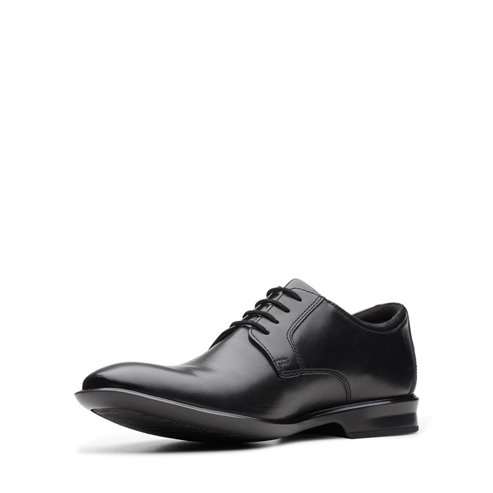 Clarks Mens BENSLEY LACE Black Leather
