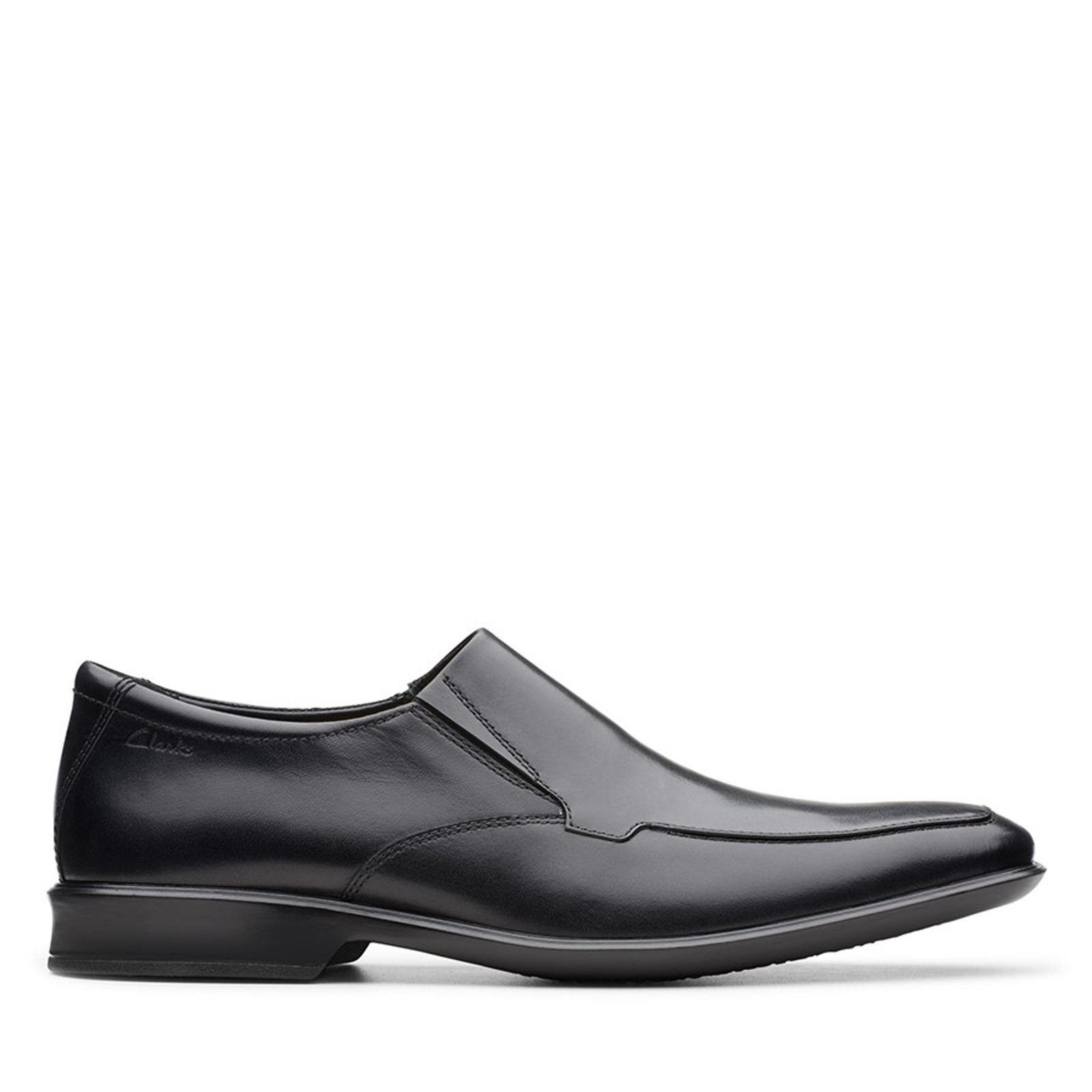 Clarks Mens BENSLEY STEP Black Leather