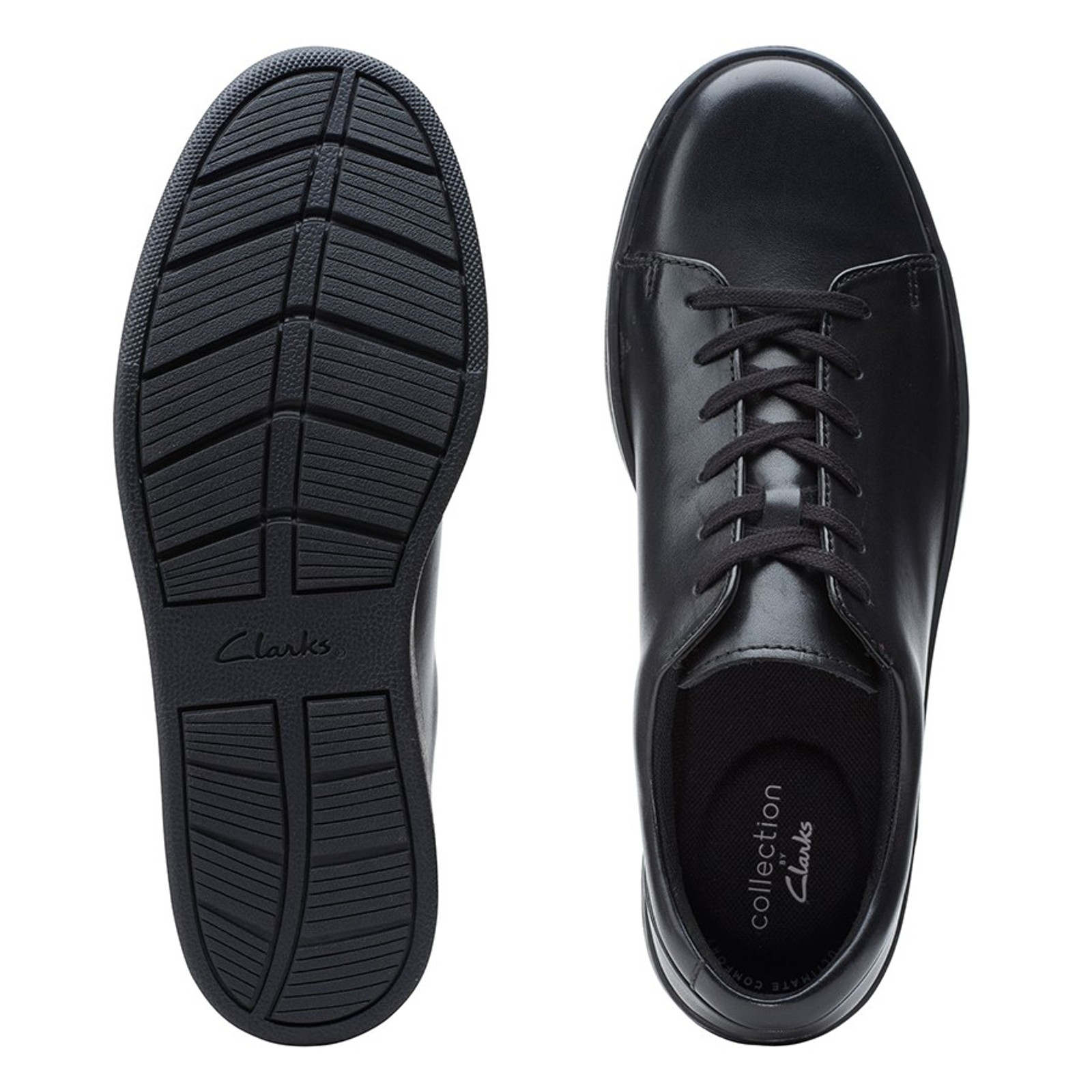 Clarks Mens KITNA LO Black Leather