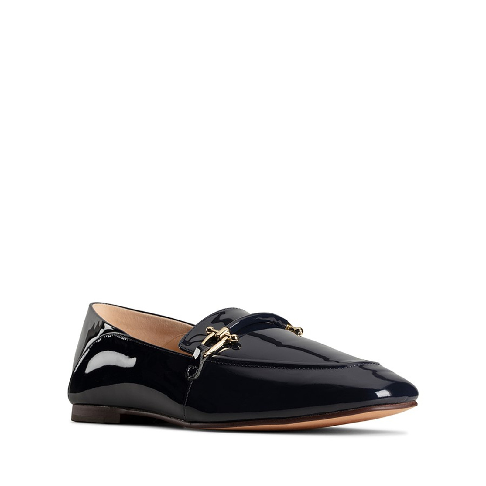Clarks Womens PURE2 LOAFER Navy Patent