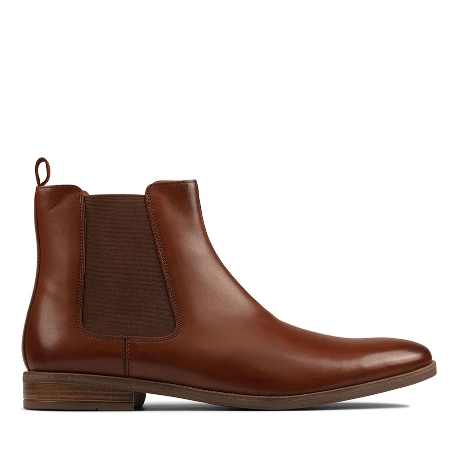 Clarks Mens STANFORD TOP British Tan Leather