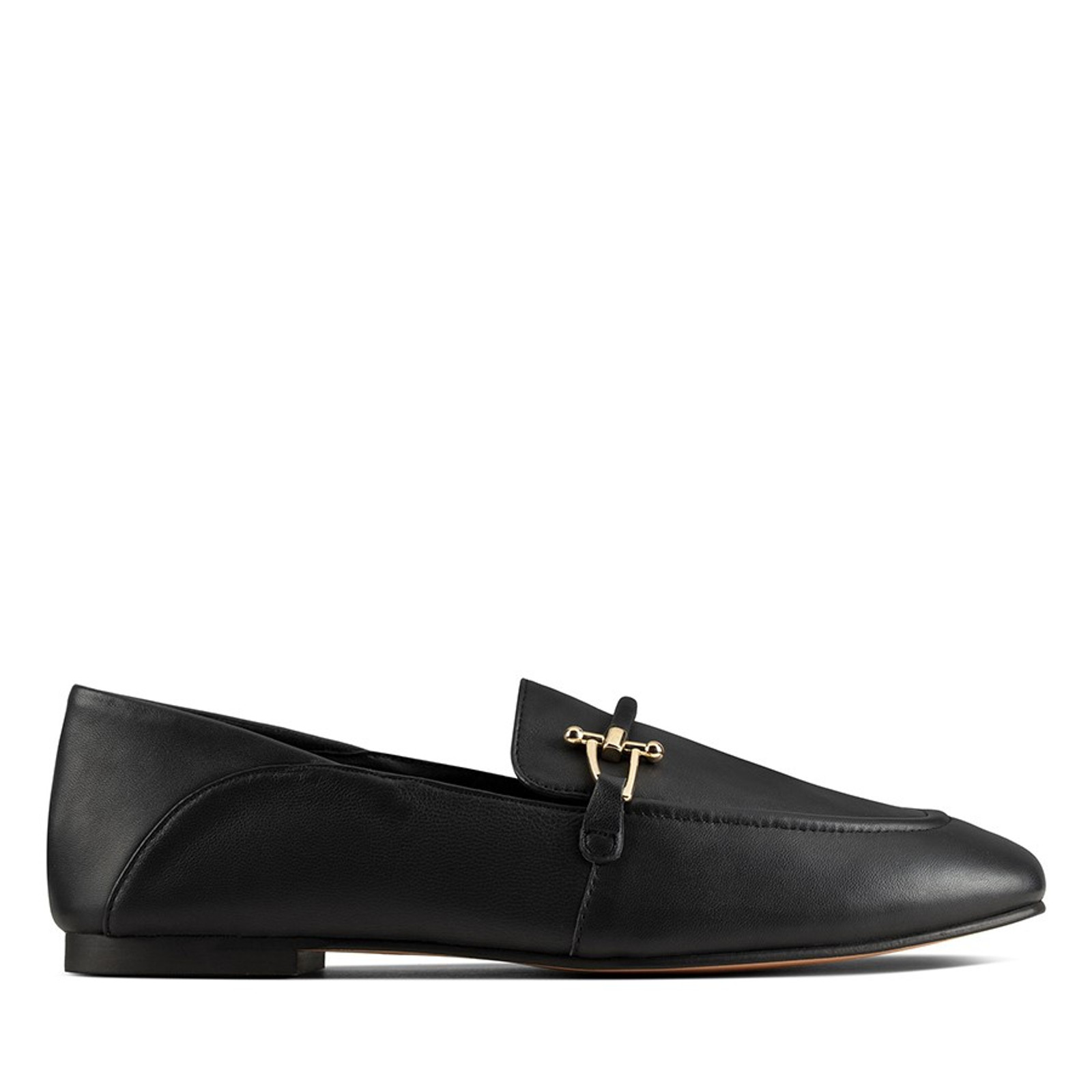 Clarks Womens PURE2 LOAFER Black Leather