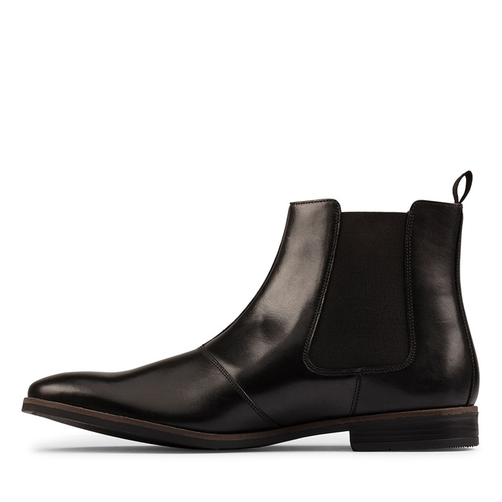 Clarks Mens STANFORD TOP Black Leather