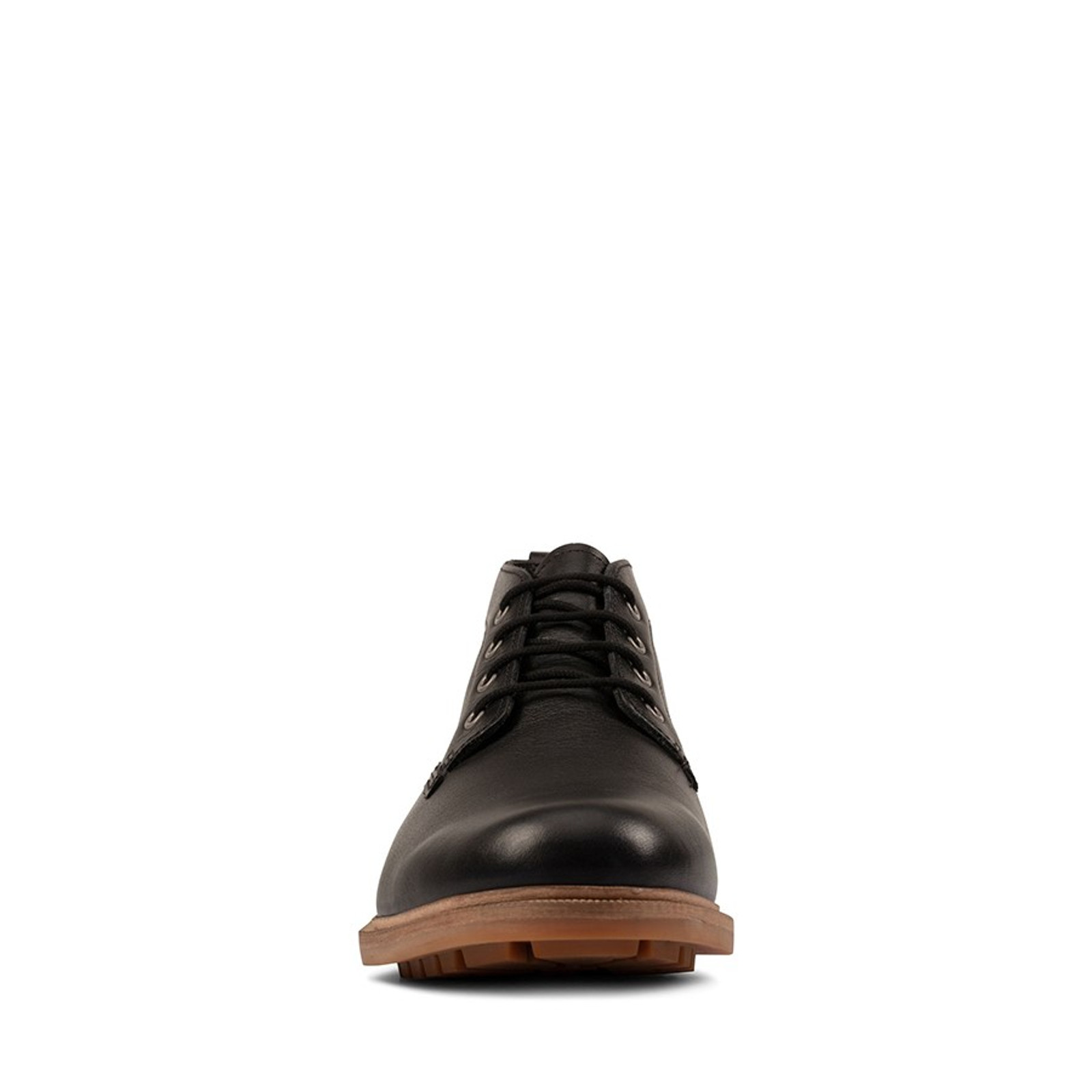 Clarks Mens FOXWELL MID Black Leather