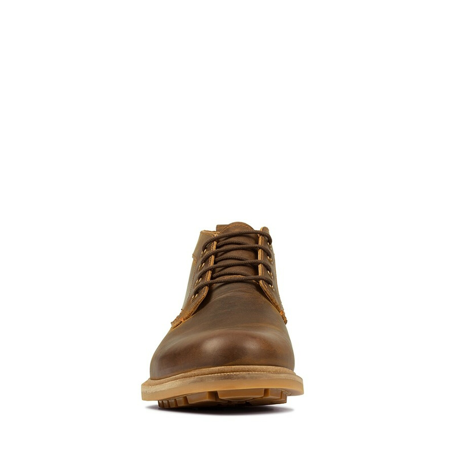 Clarks Mens FOXWELL MID Beeswax Leather