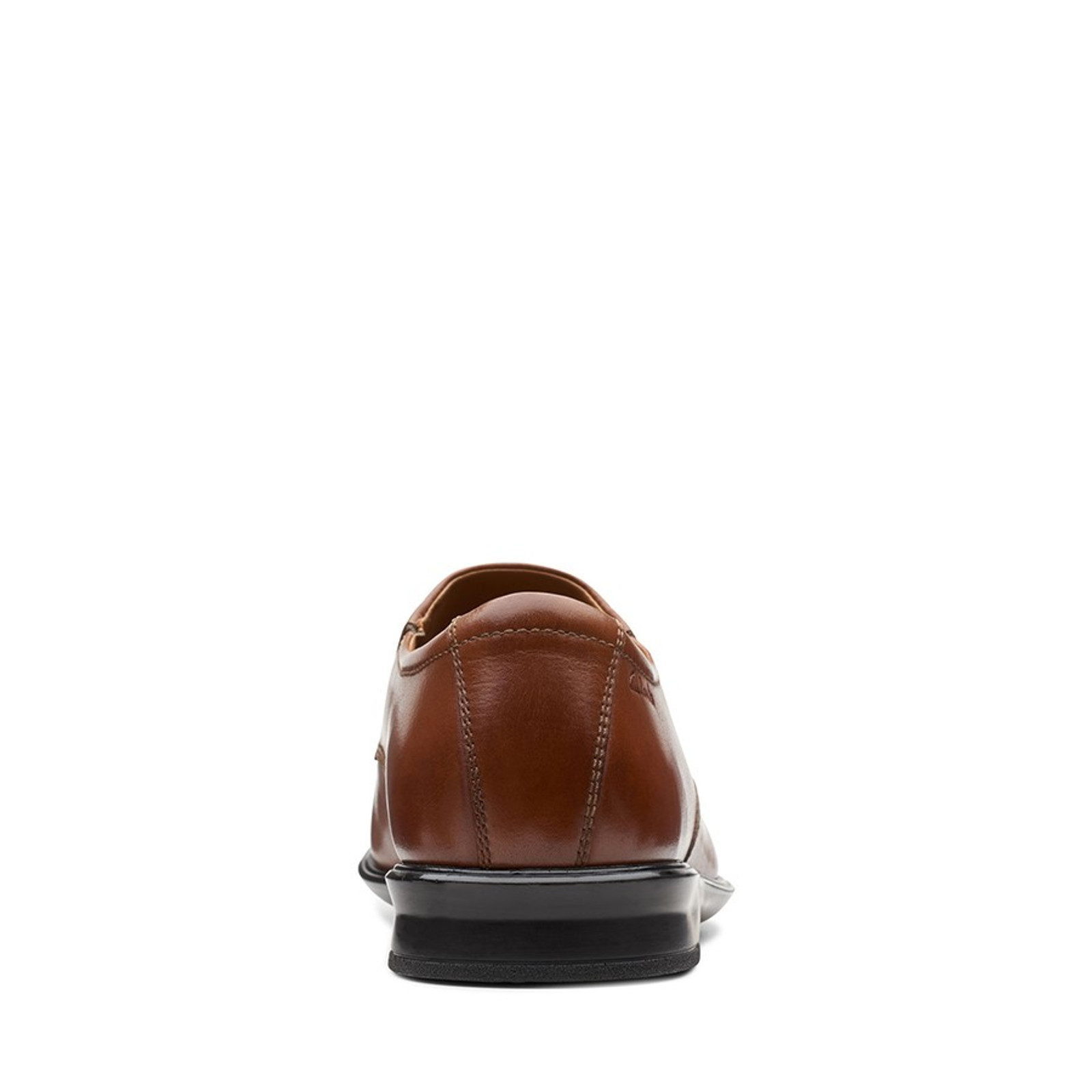 Clarks Mens BENSLEY STEP Dark Tan Leather