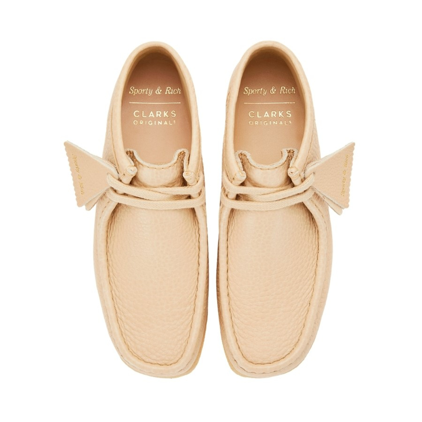Clarks Womens WALLABEE X SPORTY & RICH Off White