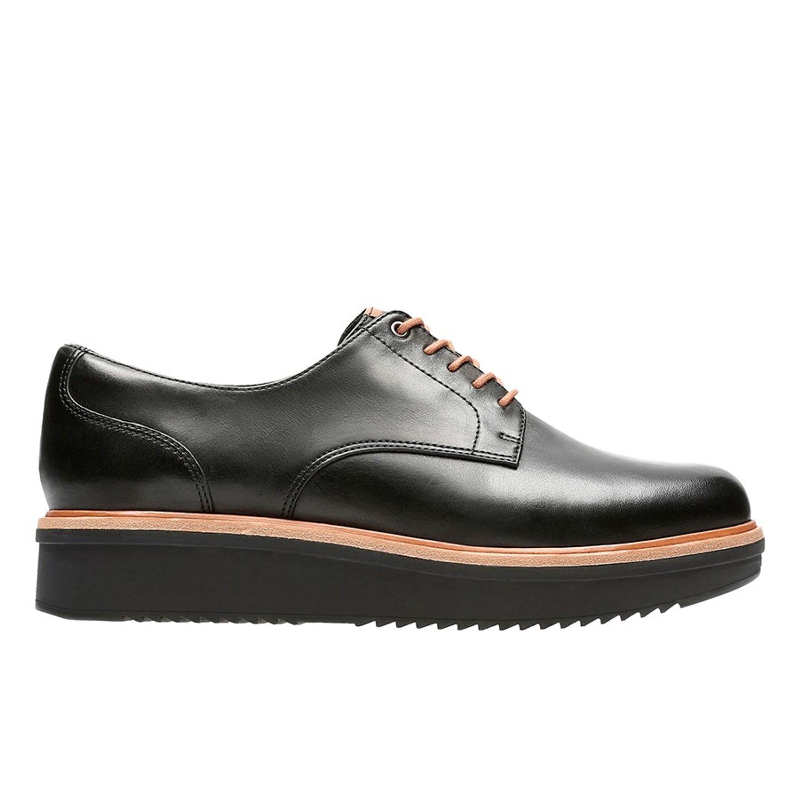 Teadale Rhea Black Leather By Clarks